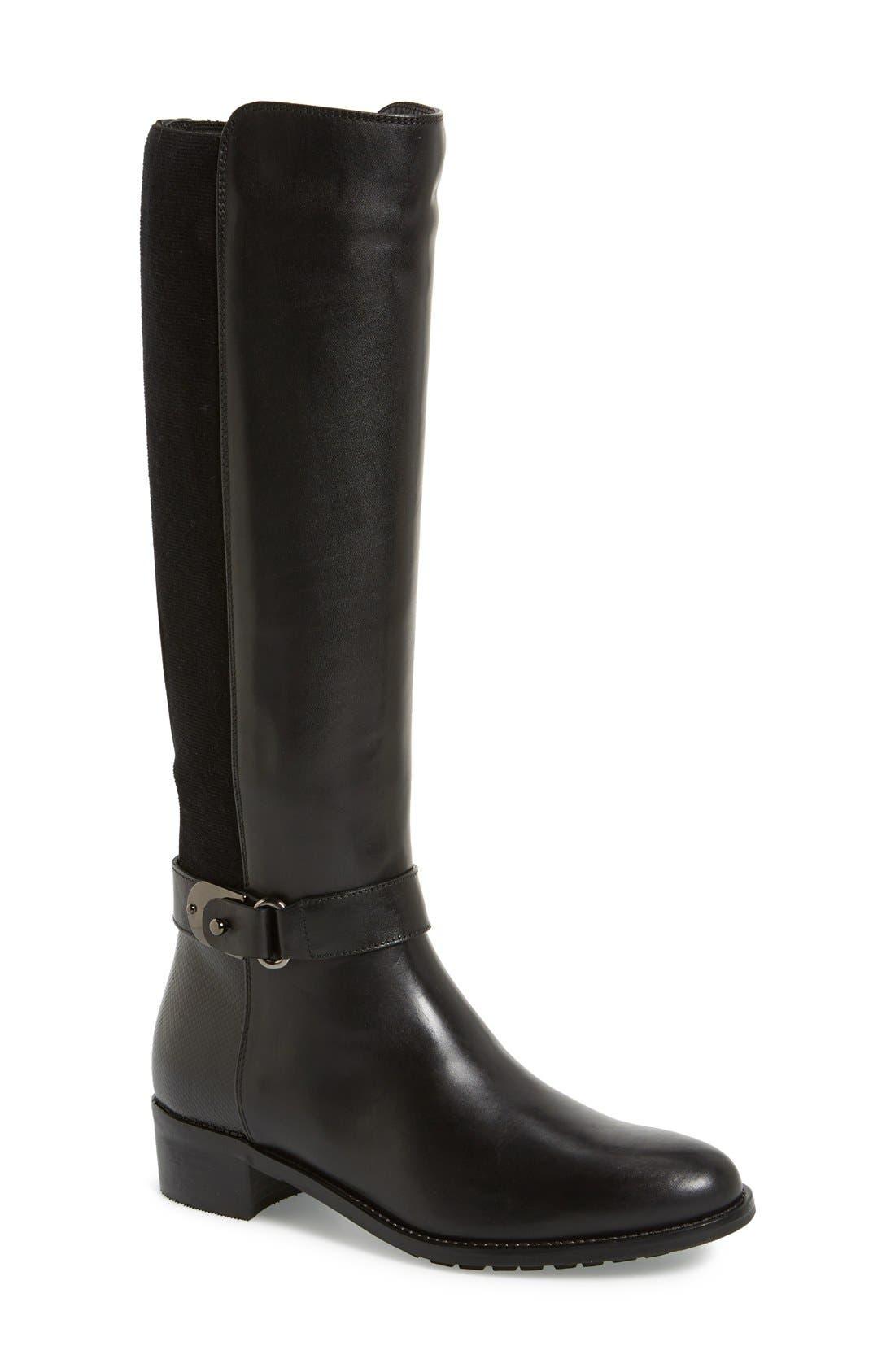 'Olita' Weatherproof Riding Boot, Main, color, 001