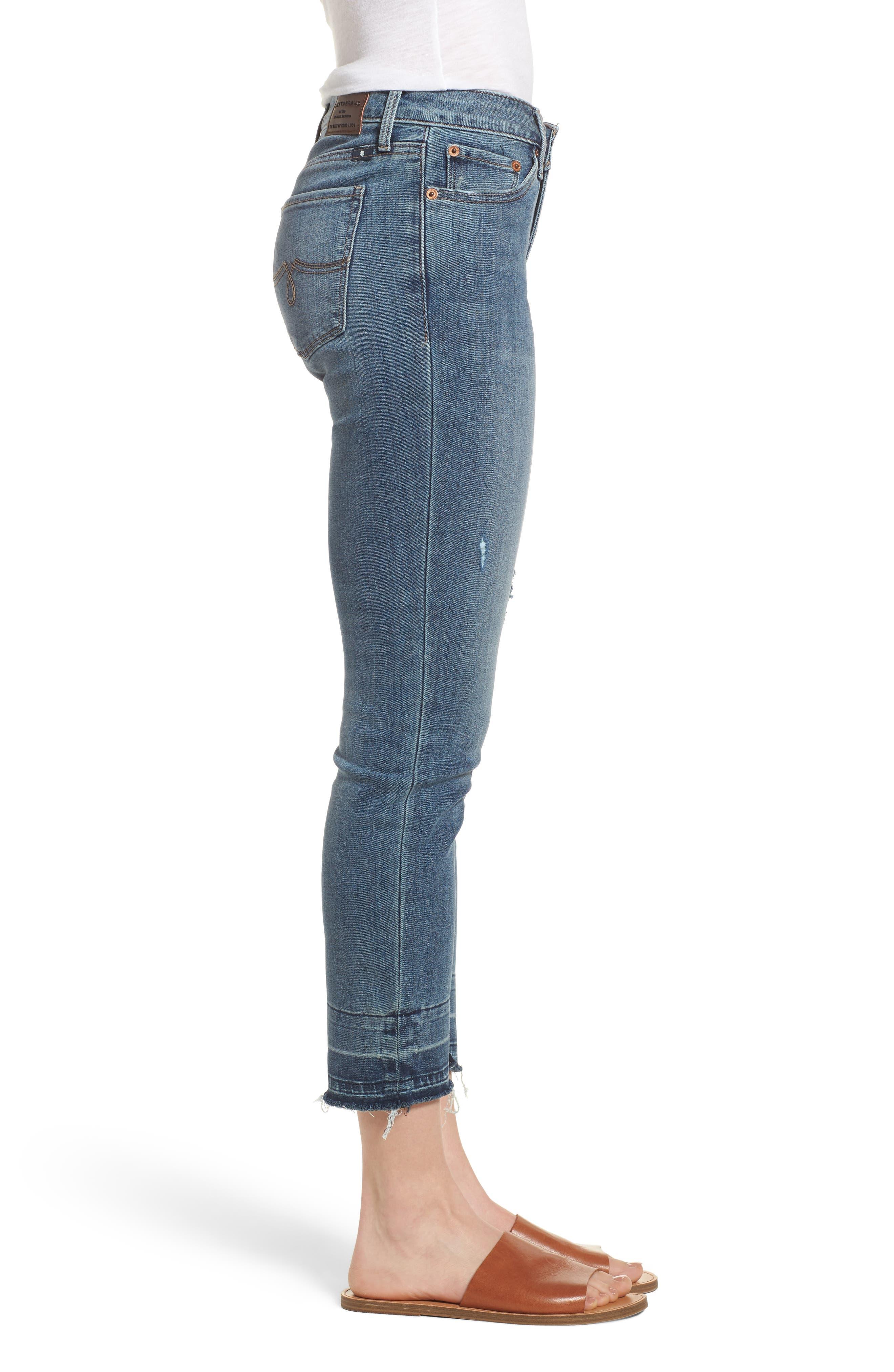 Lolita Skinny Cropped Denim Jeans,                             Alternate thumbnail 3, color,                             420