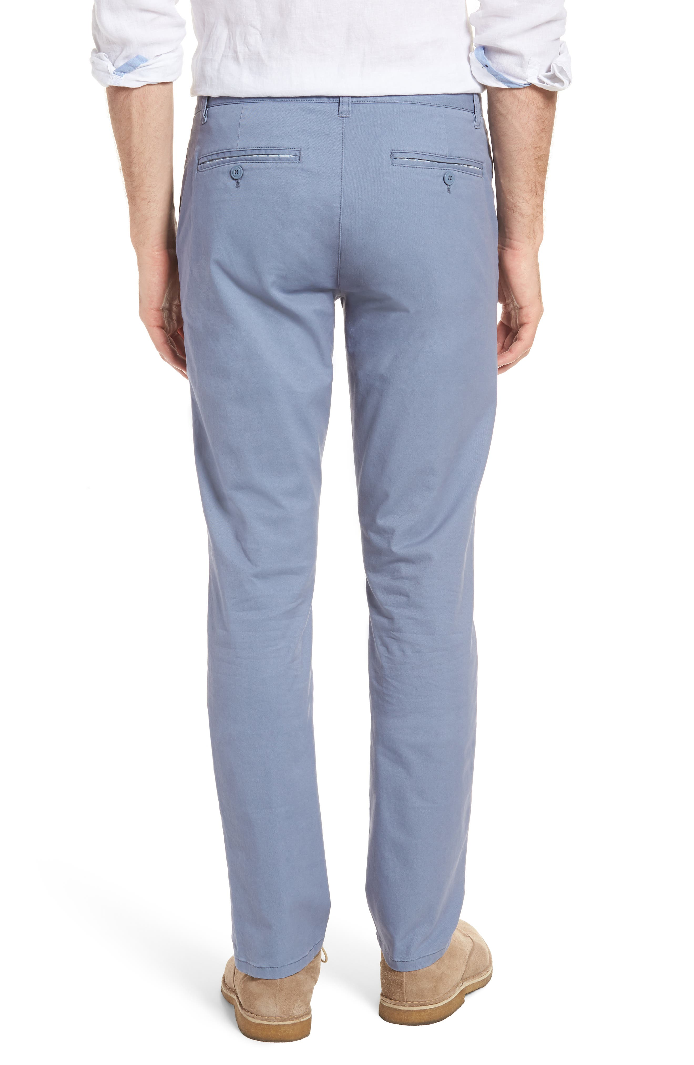 Tailored Fit Washed Stretch Cotton Chinos,                             Alternate thumbnail 53, color,