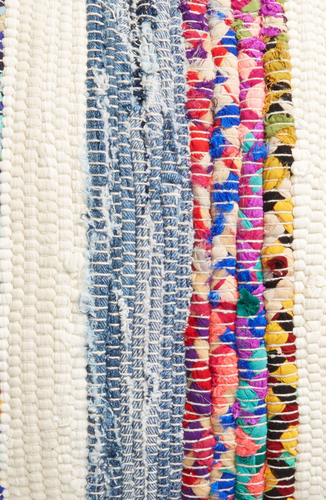 Denim Stripe Accent Pillow,                             Alternate thumbnail 3, color,                             400