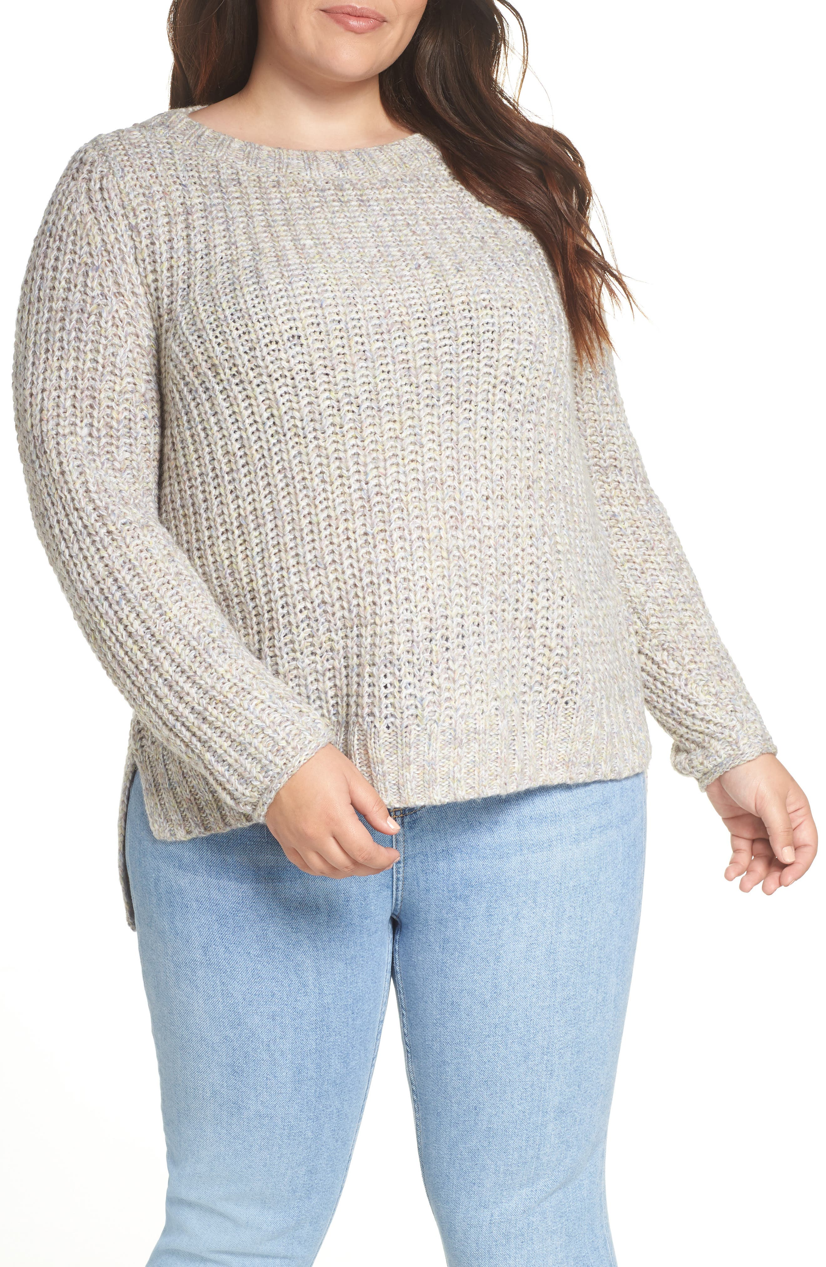 Boat Neck Sweater,                         Main,                         color, BEIGE POPCORN PATTERN