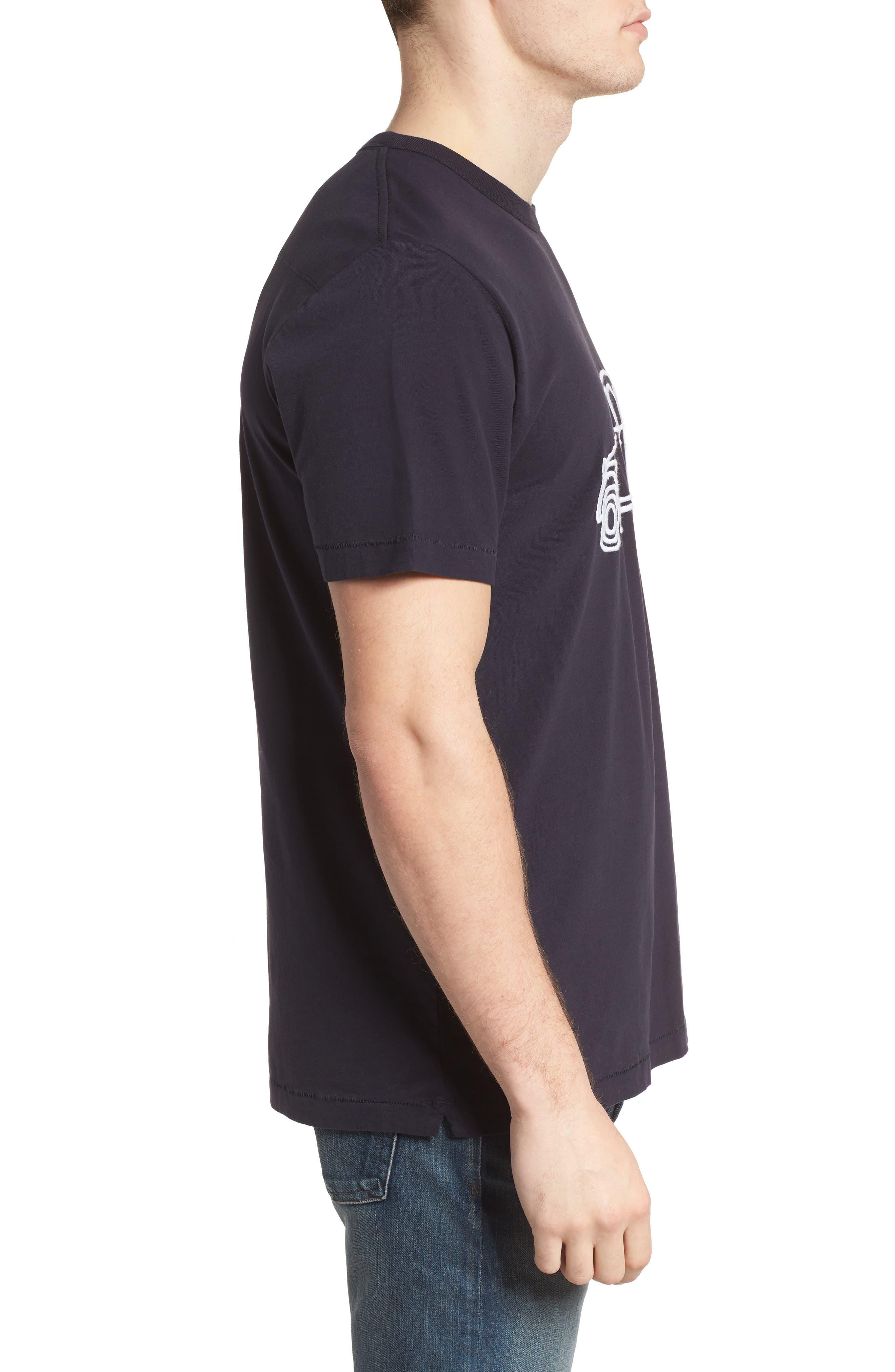 Car Slim Fit Crewneck T-Shirt,                             Alternate thumbnail 3, color,                             491