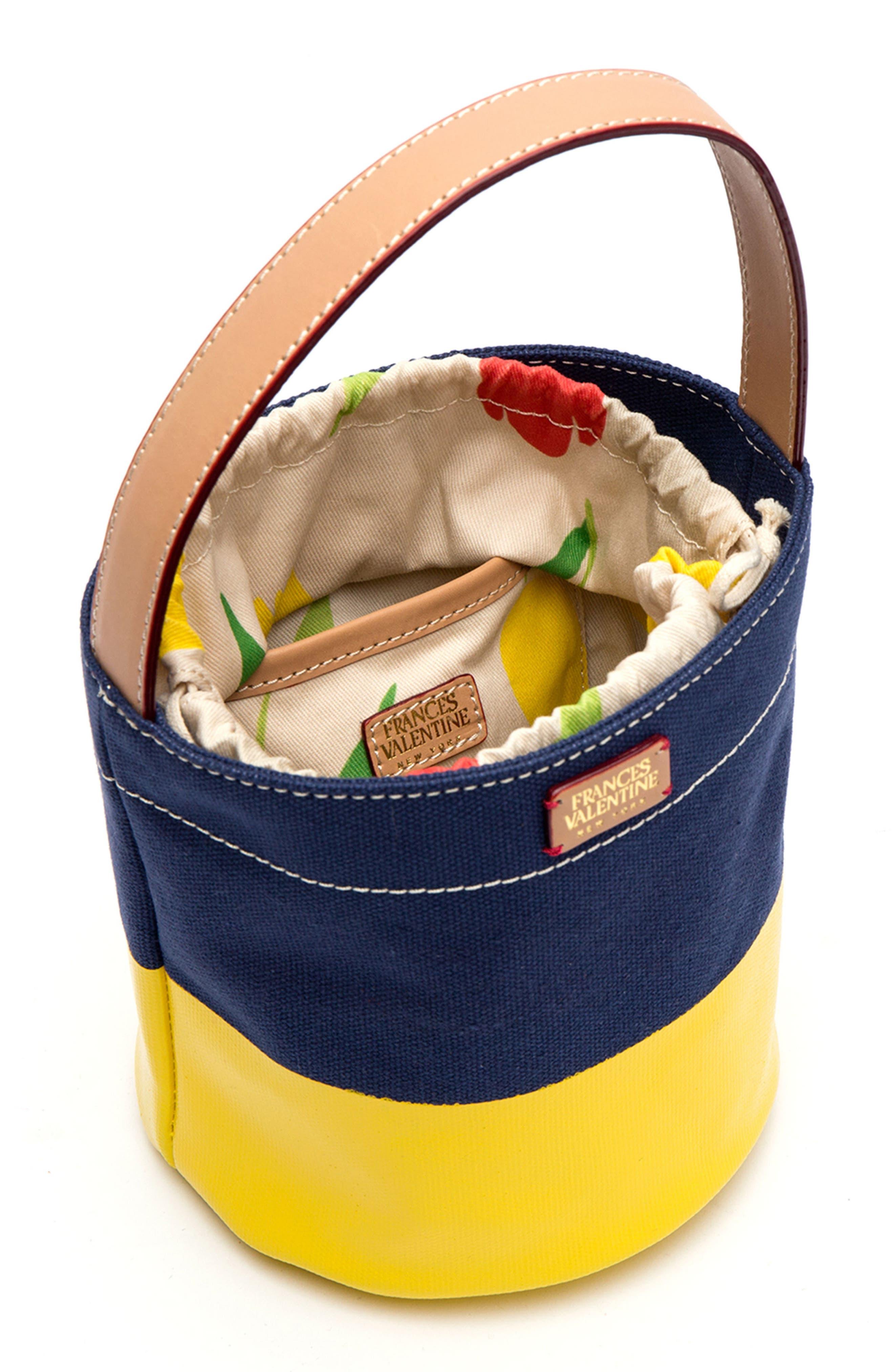 Small Canvas Bucket Bag,                             Alternate thumbnail 4, color,