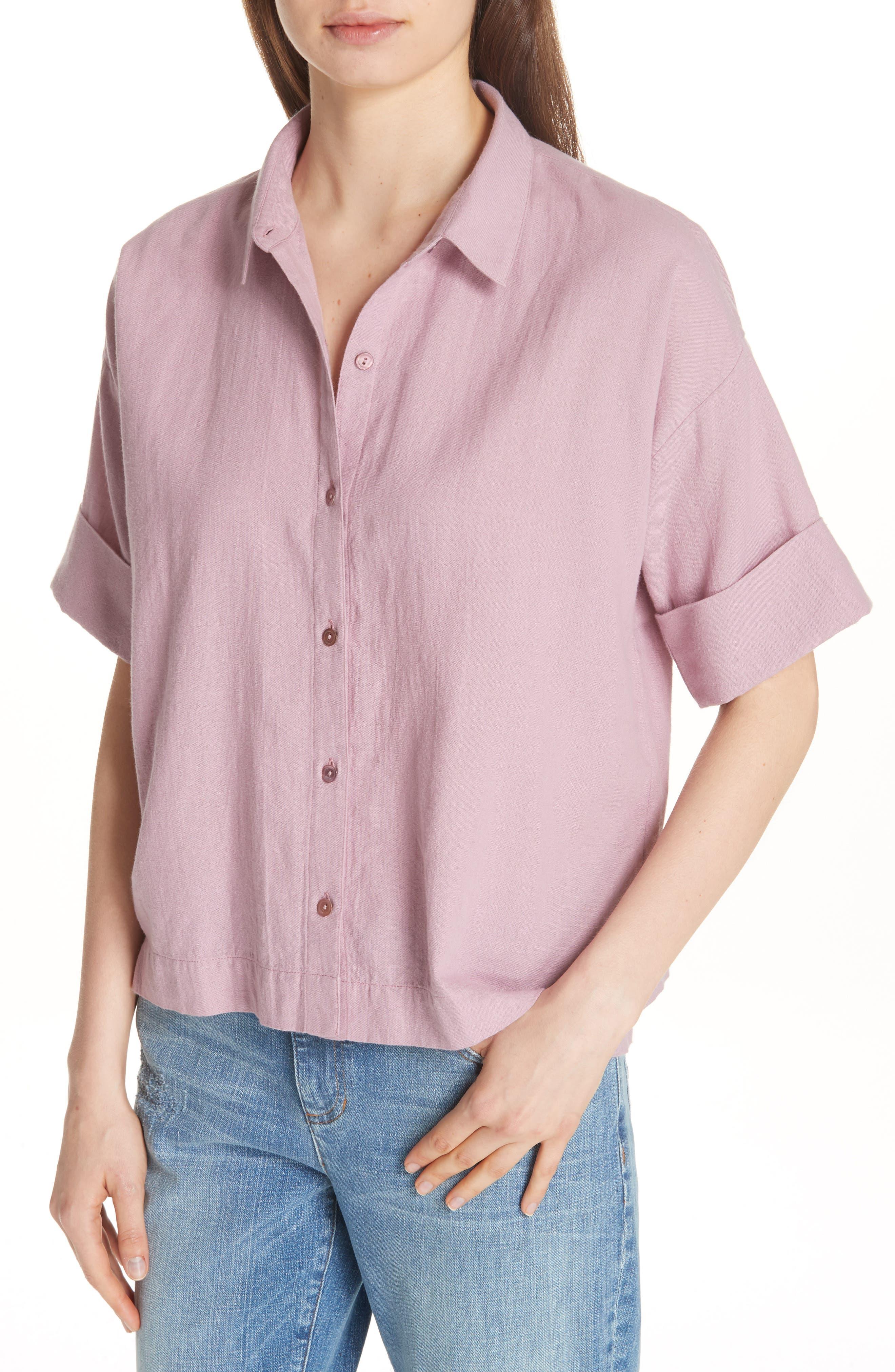Classic Boxy Shirt,                             Alternate thumbnail 8, color,
