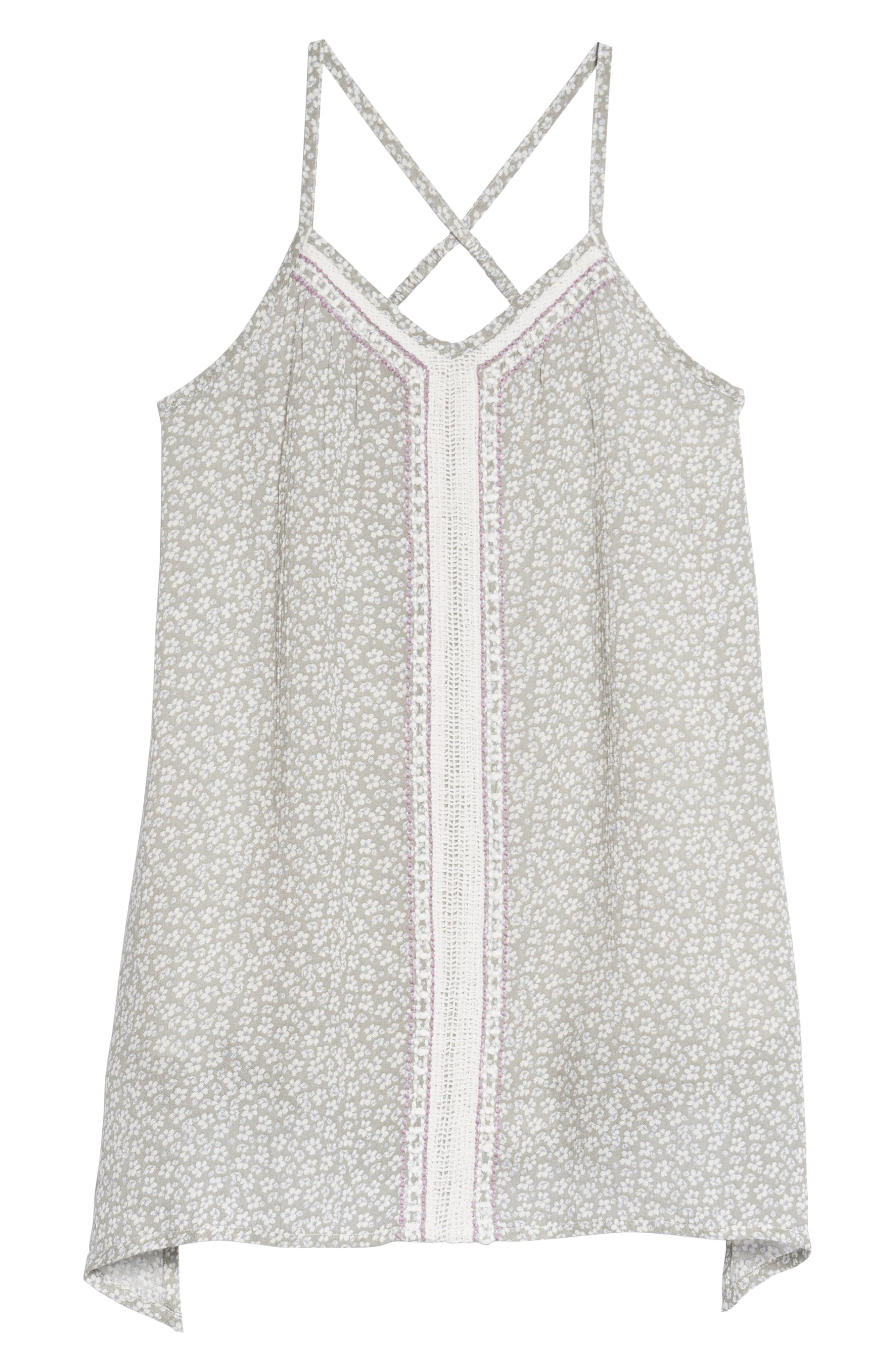 Sunny Floral Sharkbite Hem Dress,                         Main,                         color, 029