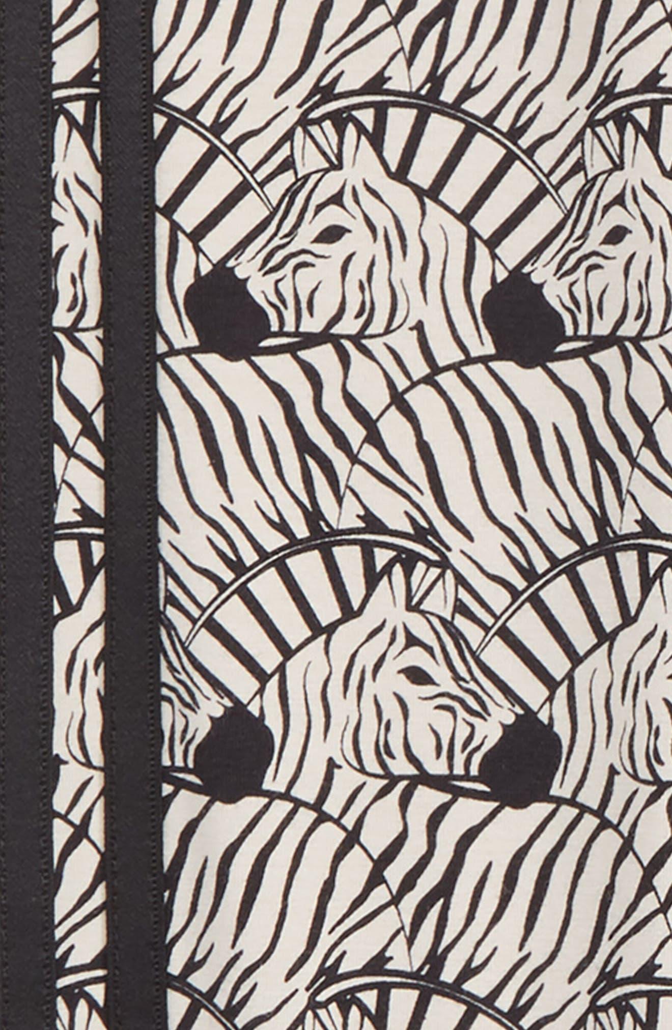 J Zebra Leggings,                             Alternate thumbnail 2, color,                             CLEAR BROWN / BLACK