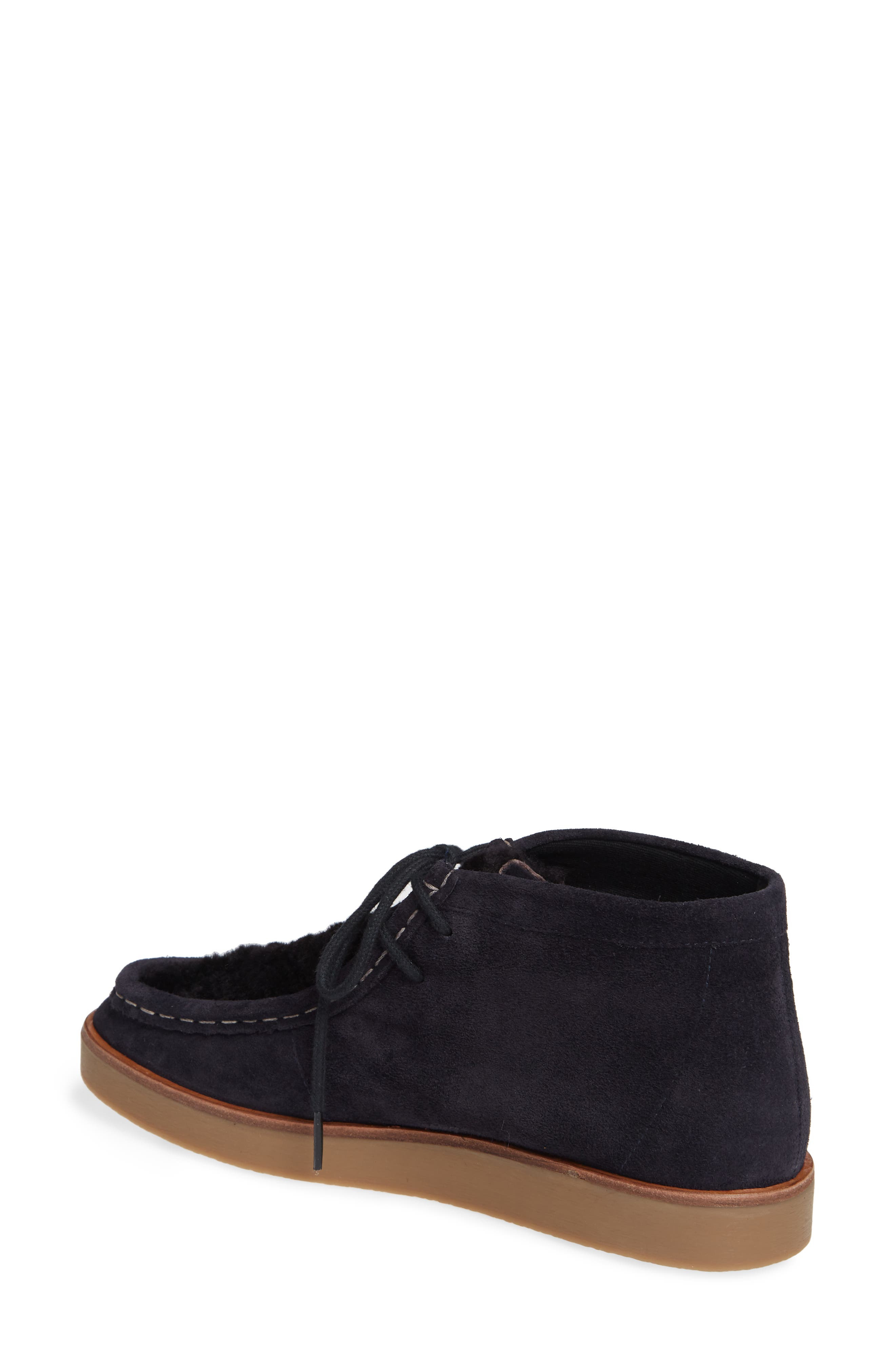 The Trooper Genuine Shearling Lined Shoe,                             Alternate thumbnail 2, color,                             MIDNIGHT/ BLACK SHEARLING