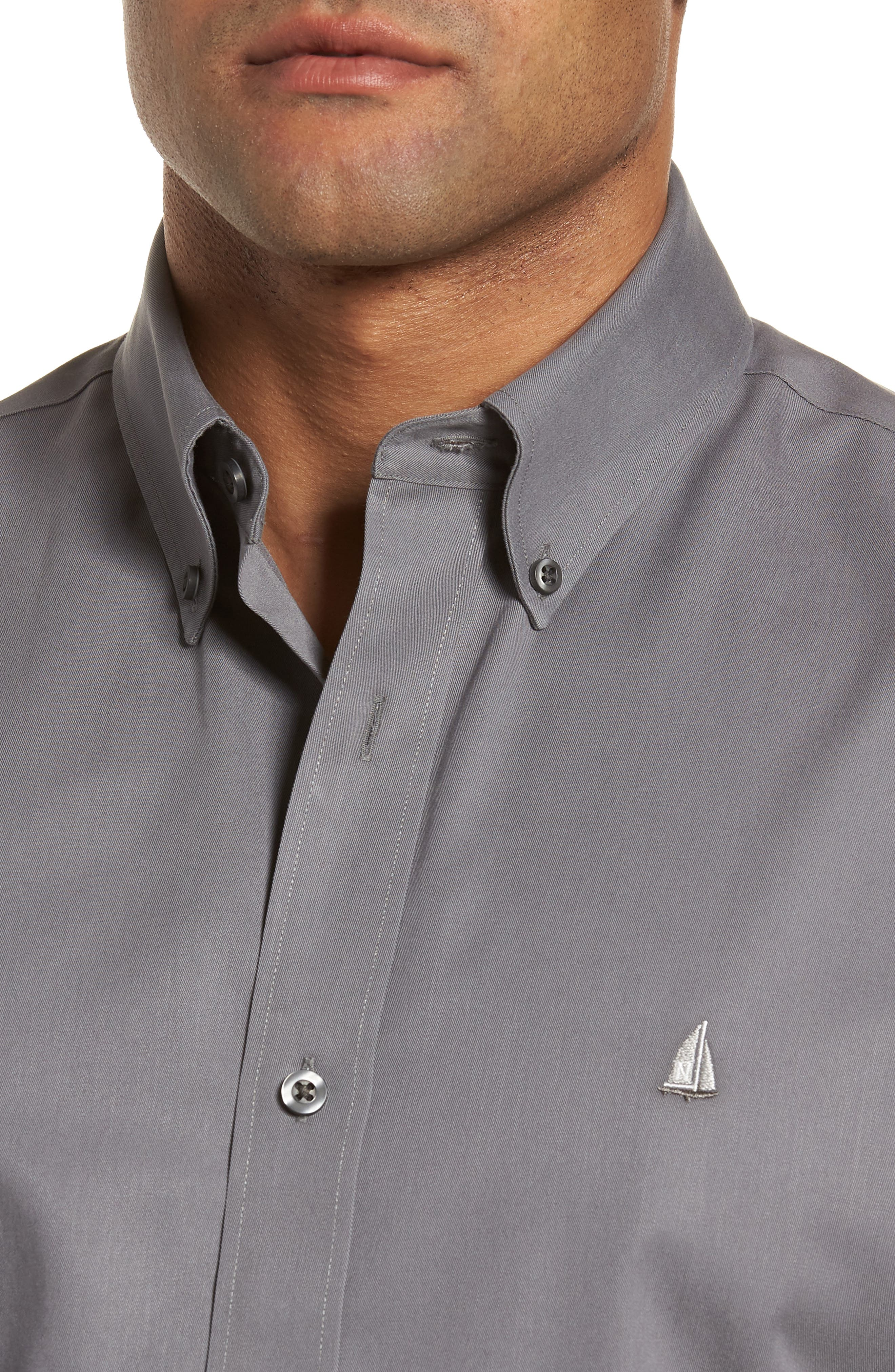 Smartcare<sup>™</sup> Traditional Fit Twill Boat Shirt,                             Alternate thumbnail 138, color,