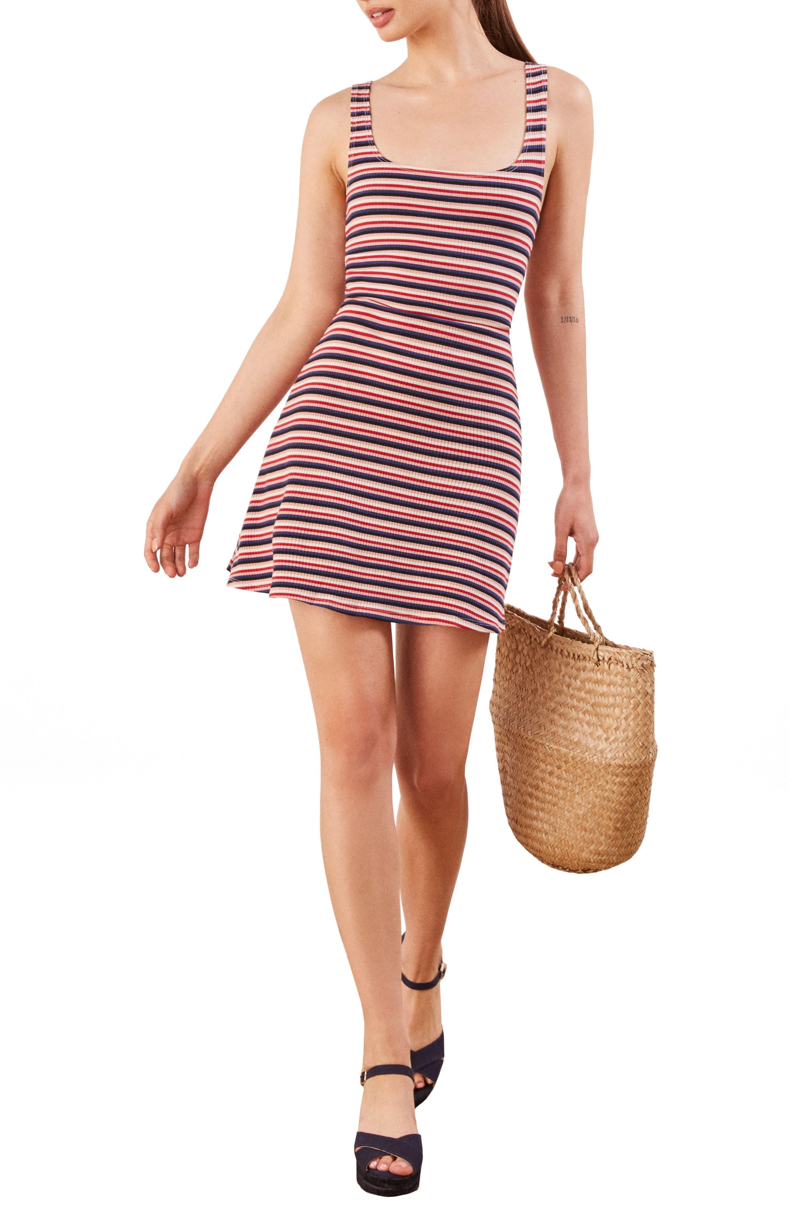Reformation Mia Tank Dress, Pink