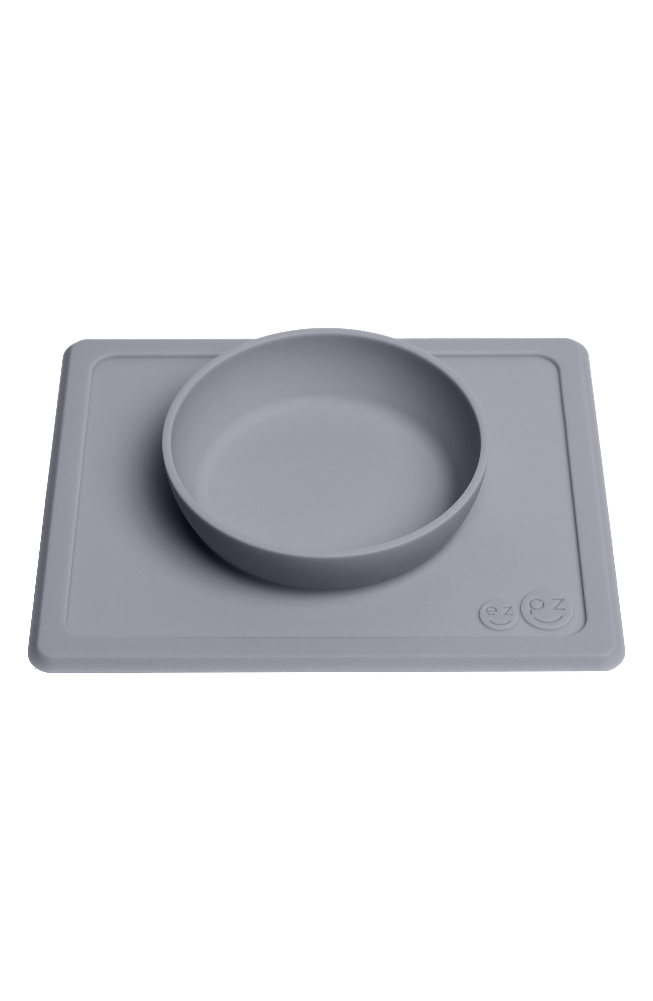 Mini Bowl Silicone Feeding Mat,                             Alternate thumbnail 2, color,                             GRAY