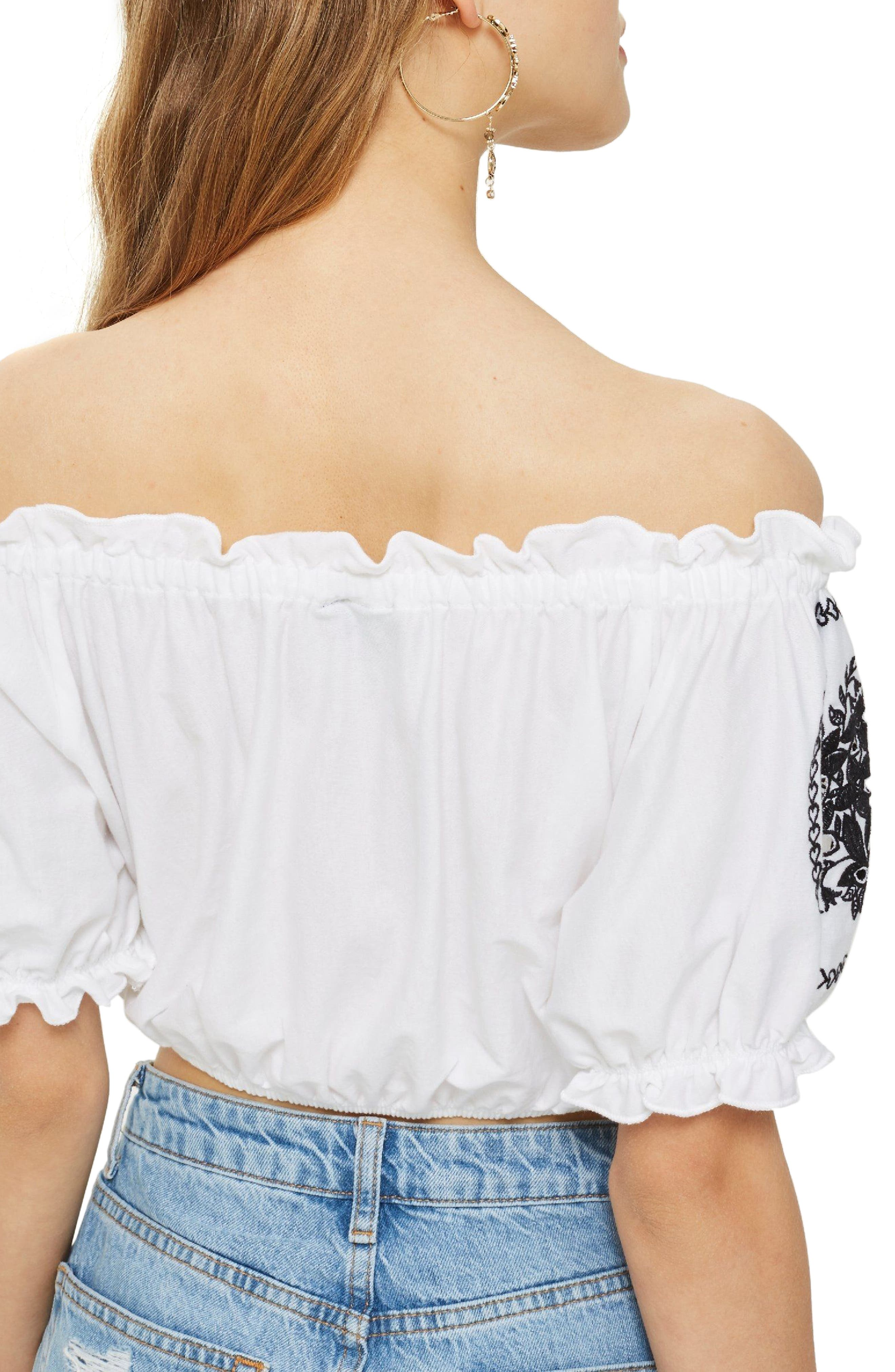 Gypsy Embroidered Crop Top,                             Alternate thumbnail 2, color,                             100