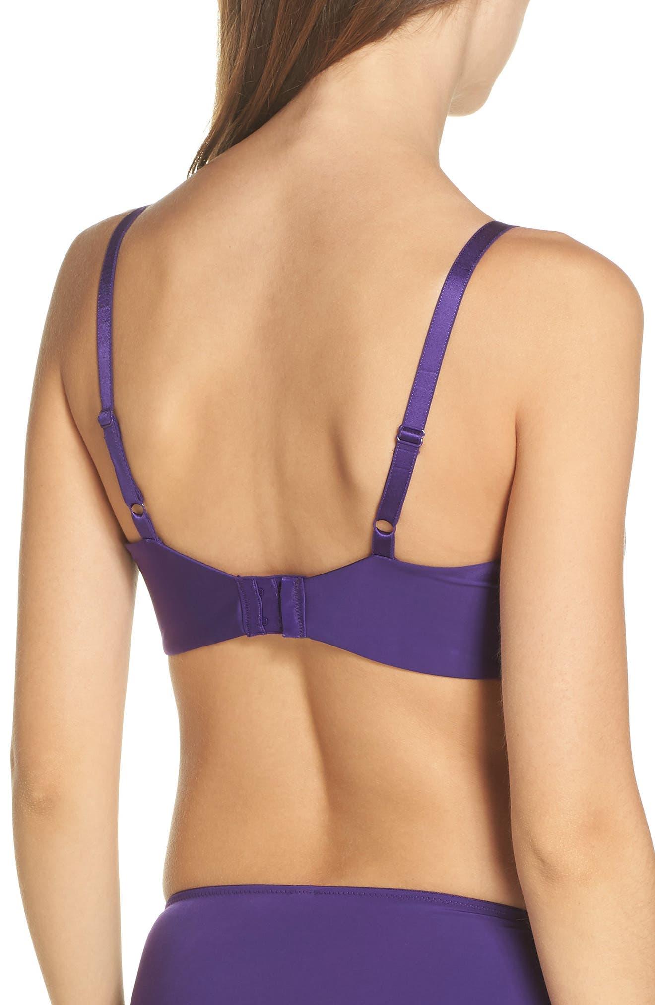Lace Impression Lace Underwire T-Shirt Bra,                             Alternate thumbnail 2, color,                             VIOLET INDIGO