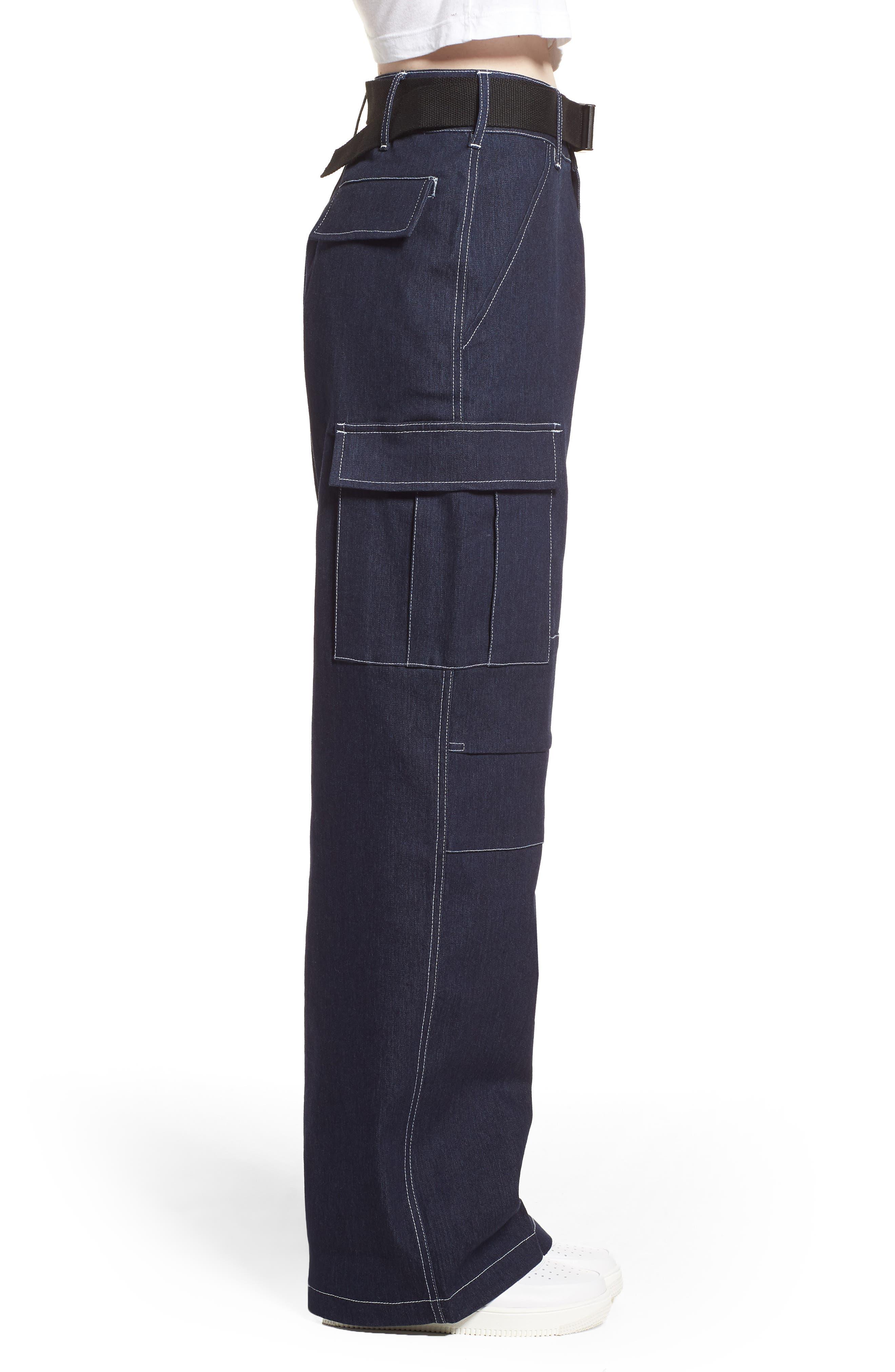 I.AM.GIA Ace Cargo Jeans,                             Alternate thumbnail 3, color,                             DENIM