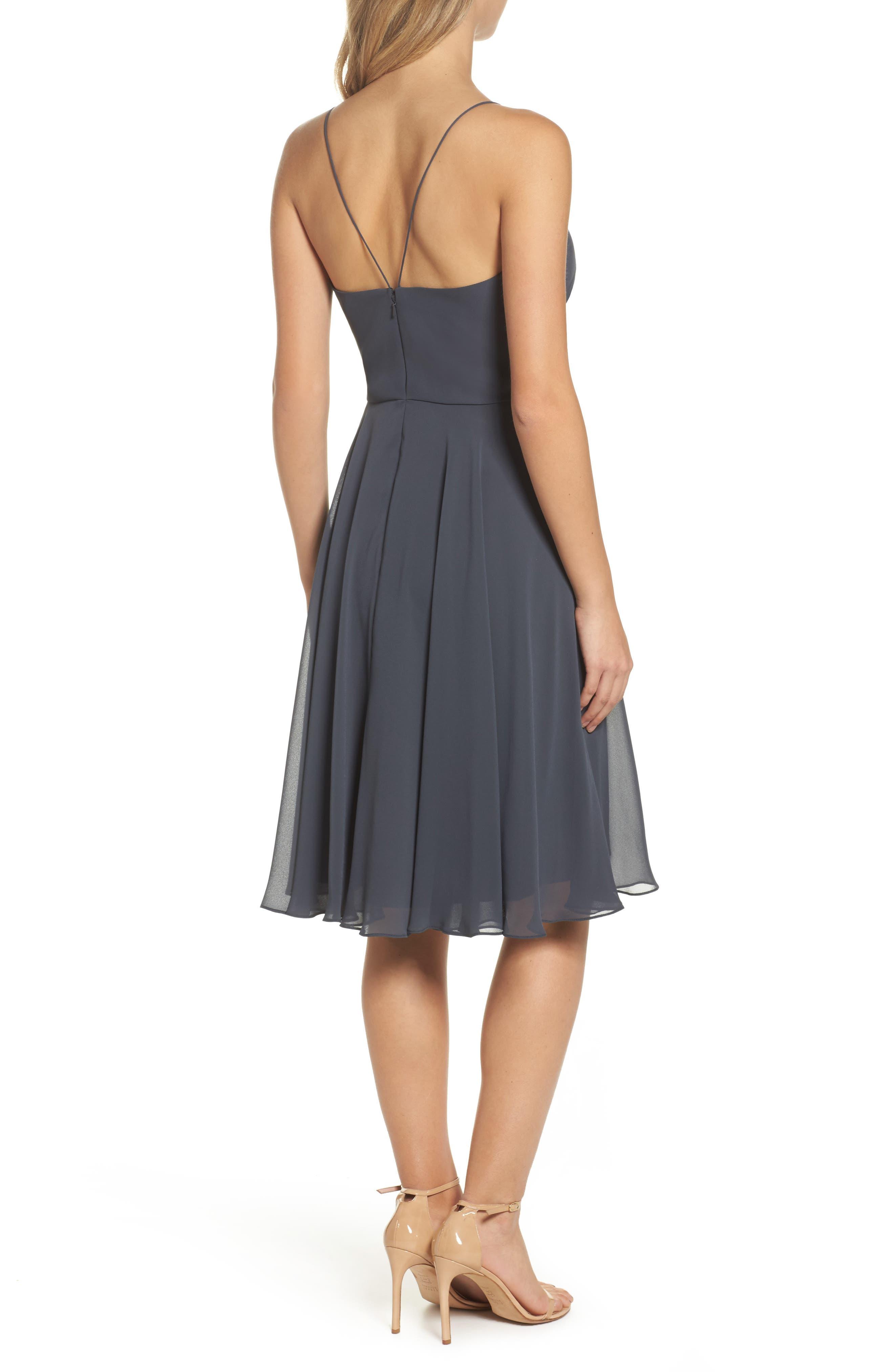 JENNY YOO,                             Sienna Chiffon Dress,                             Alternate thumbnail 2, color,                             026