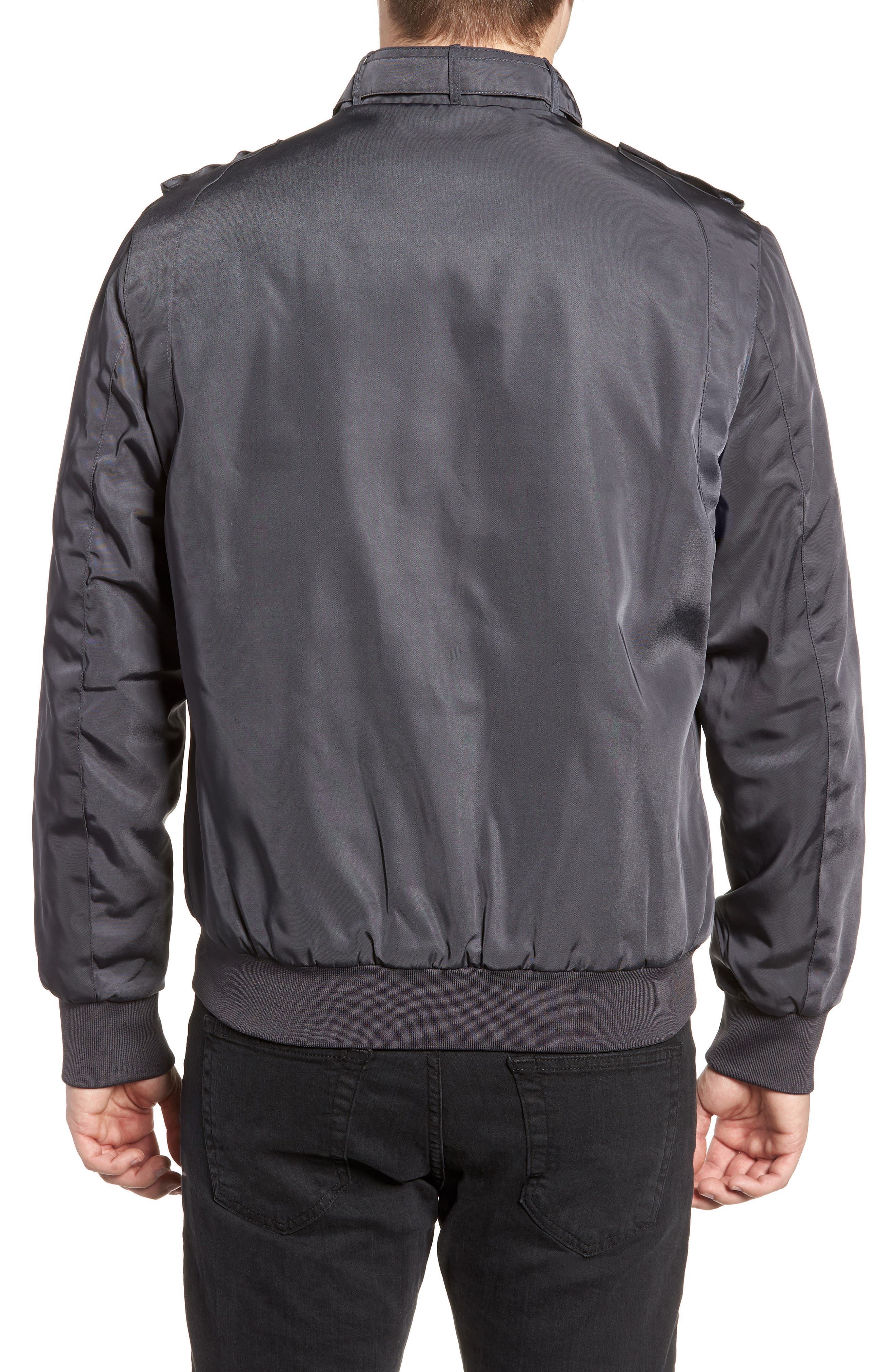 Iconic Racer Jacket,                             Alternate thumbnail 2, color,                             CHARCOAL