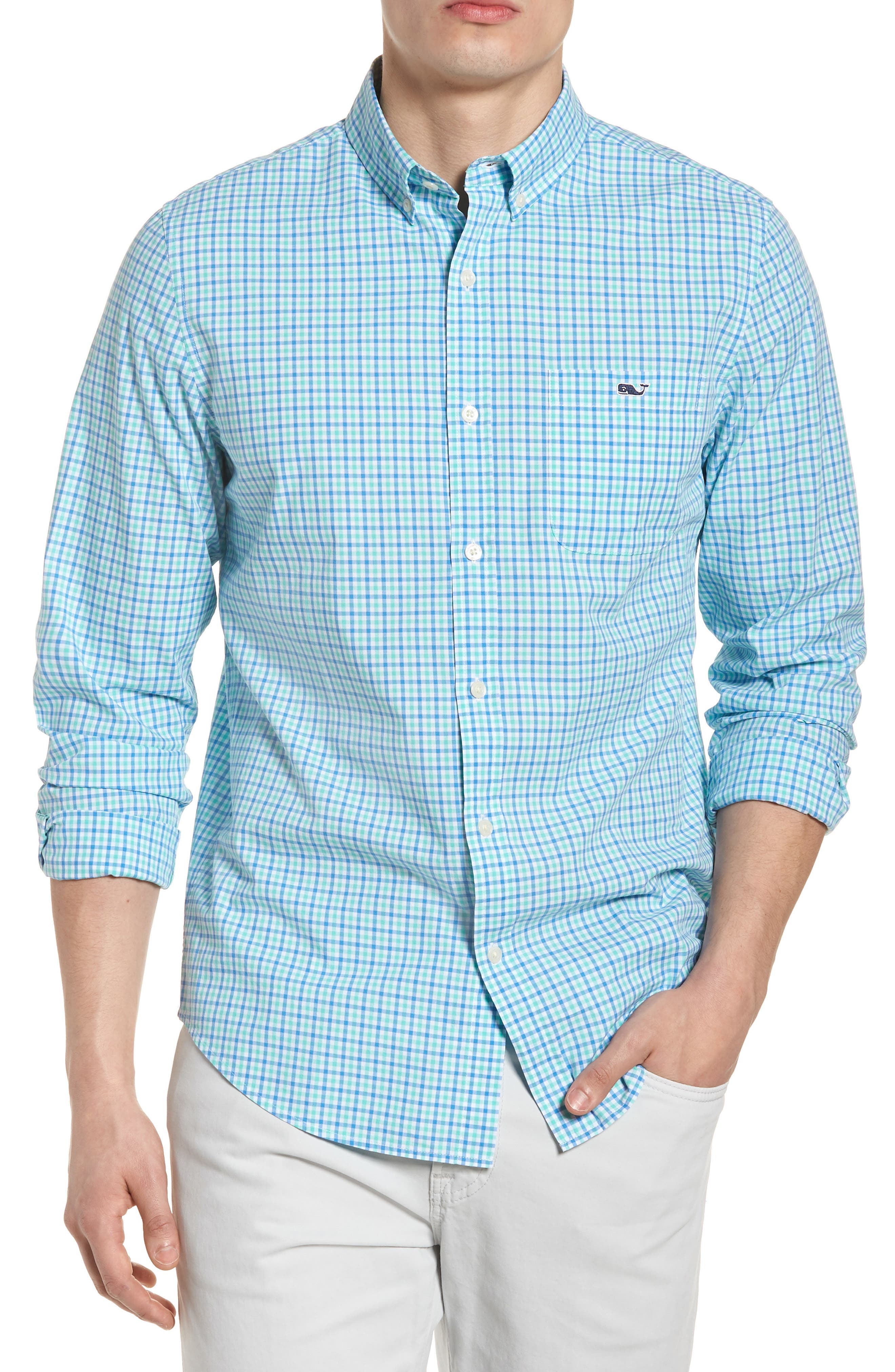 Tipsy Turtle Check Slim Fit Sport Shirt,                         Main,                         color,
