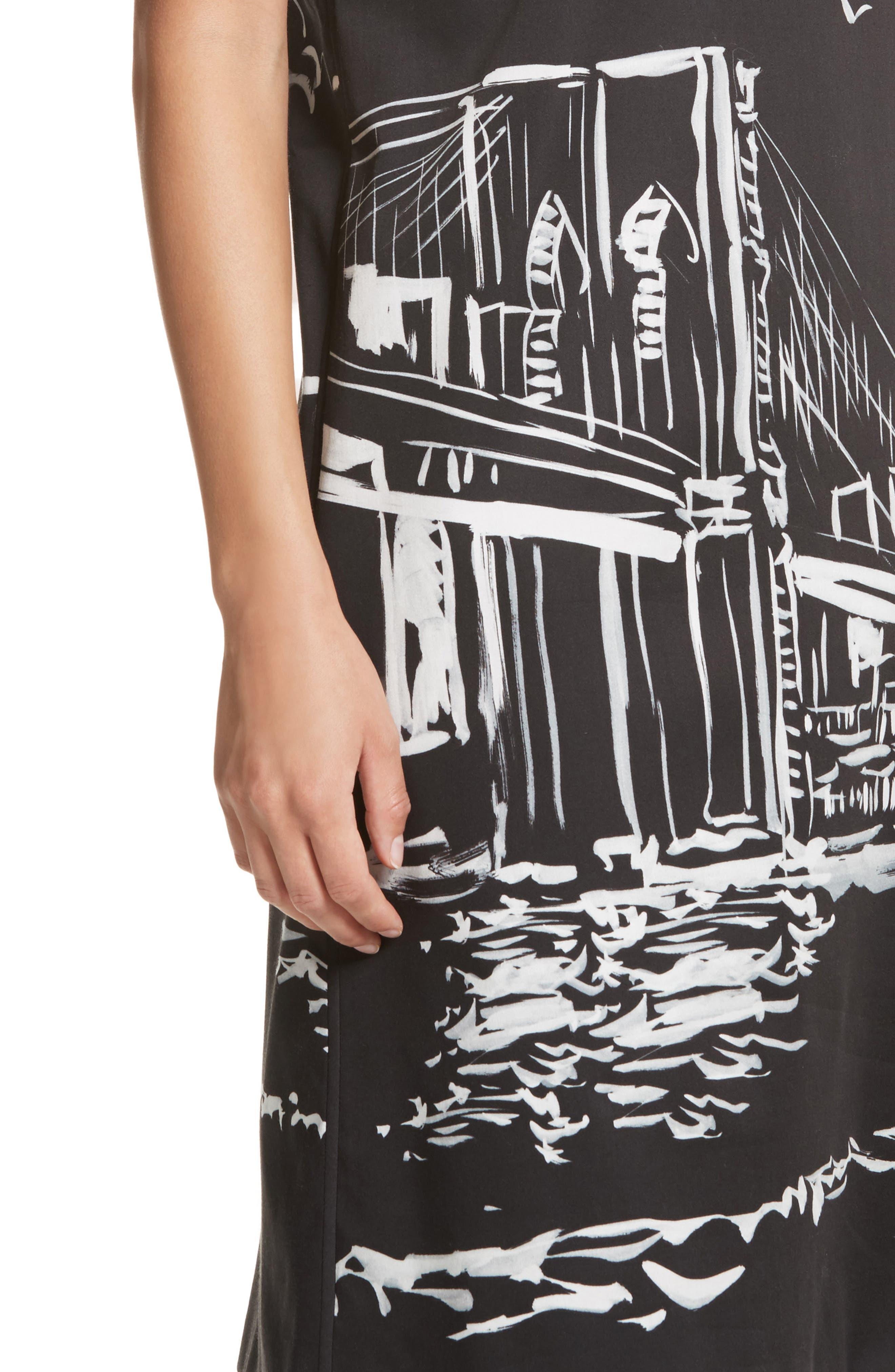 Giuliana Print Shift Dress,                             Alternate thumbnail 4, color,                             083