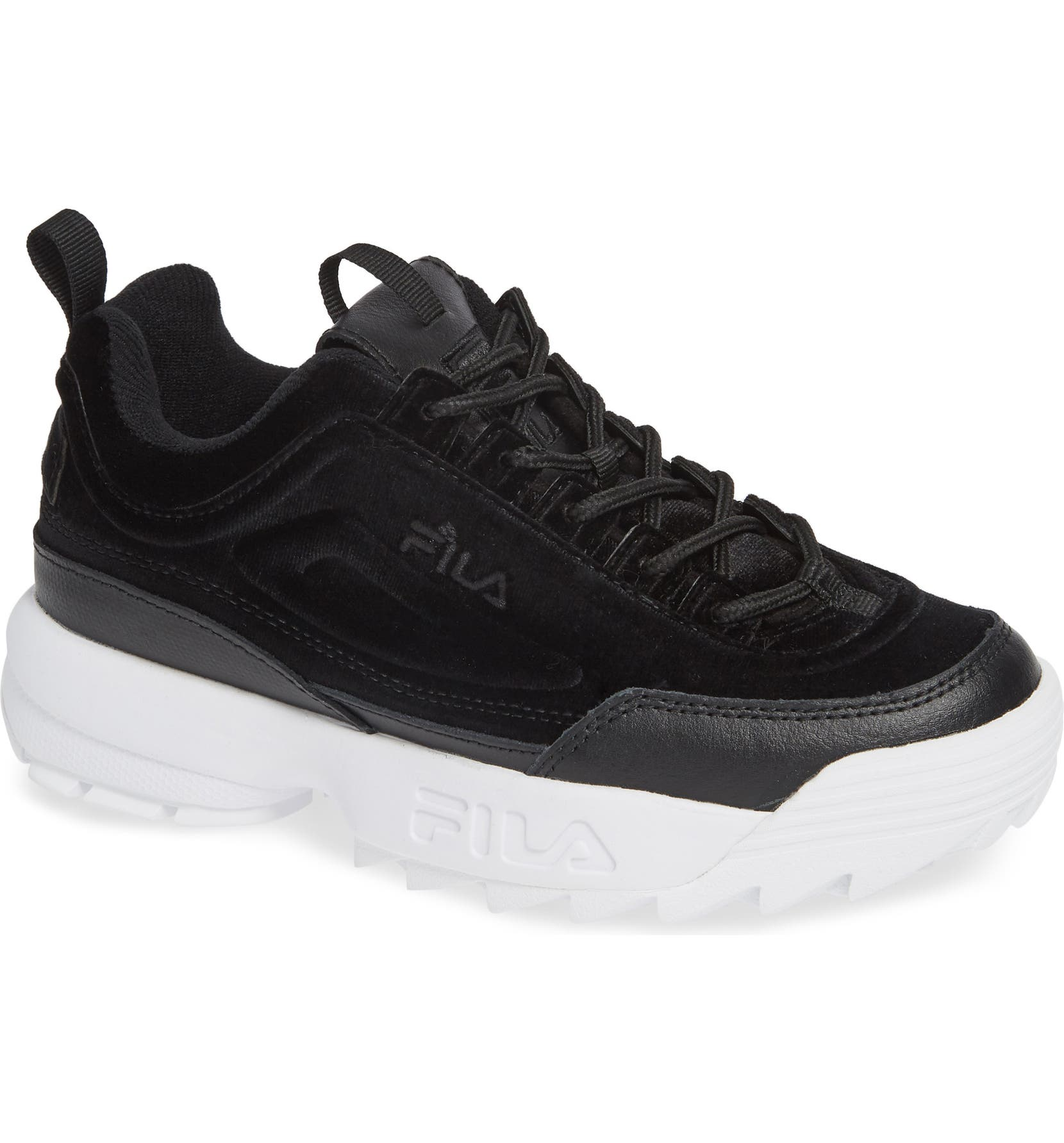 92bceaa6a47 FILA Disruptor II Premium Velour Sneaker (Women)