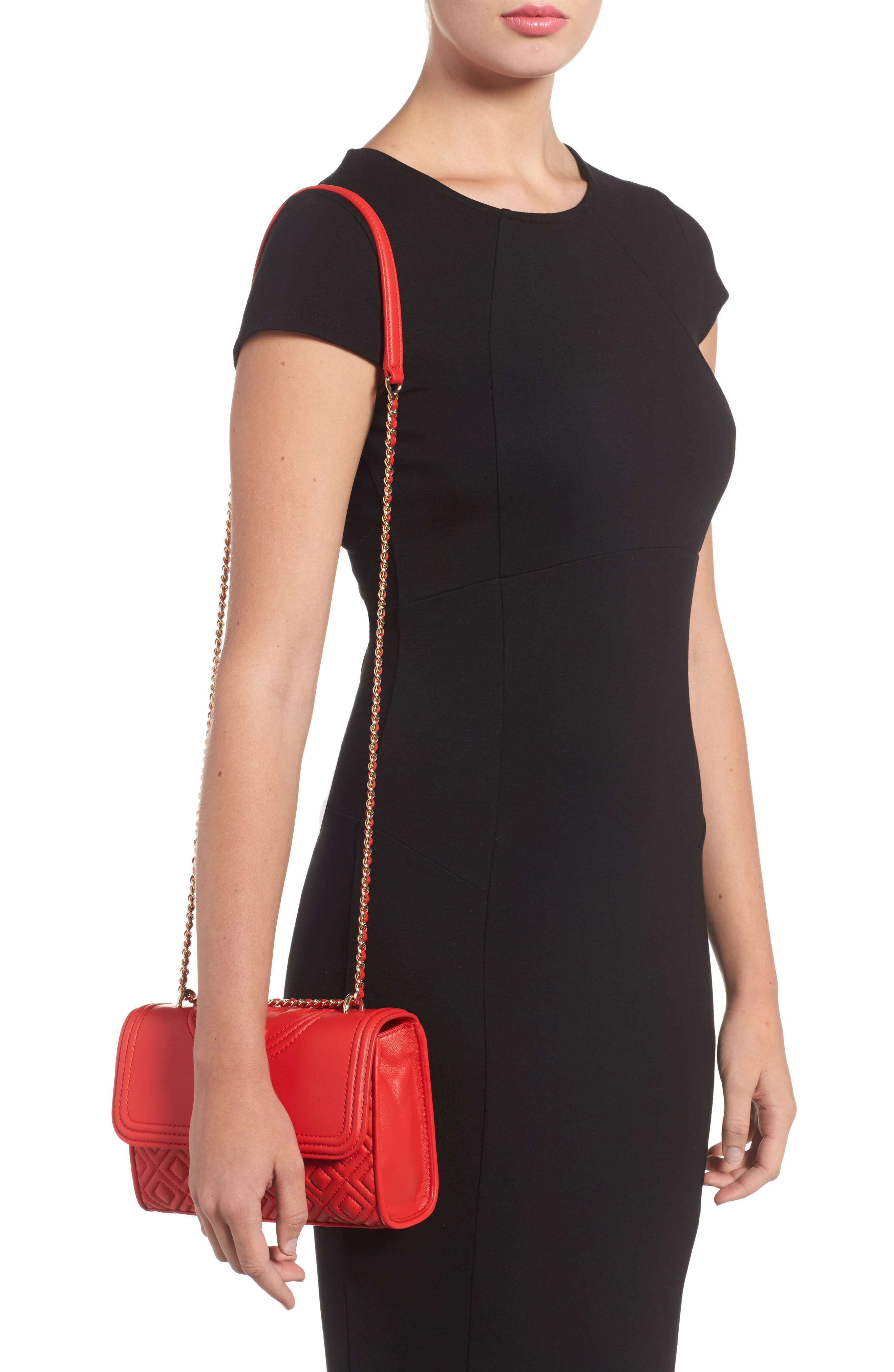 'Small Fleming' Quilted Leather Shoulder Bag,                             Alternate thumbnail 8, color,