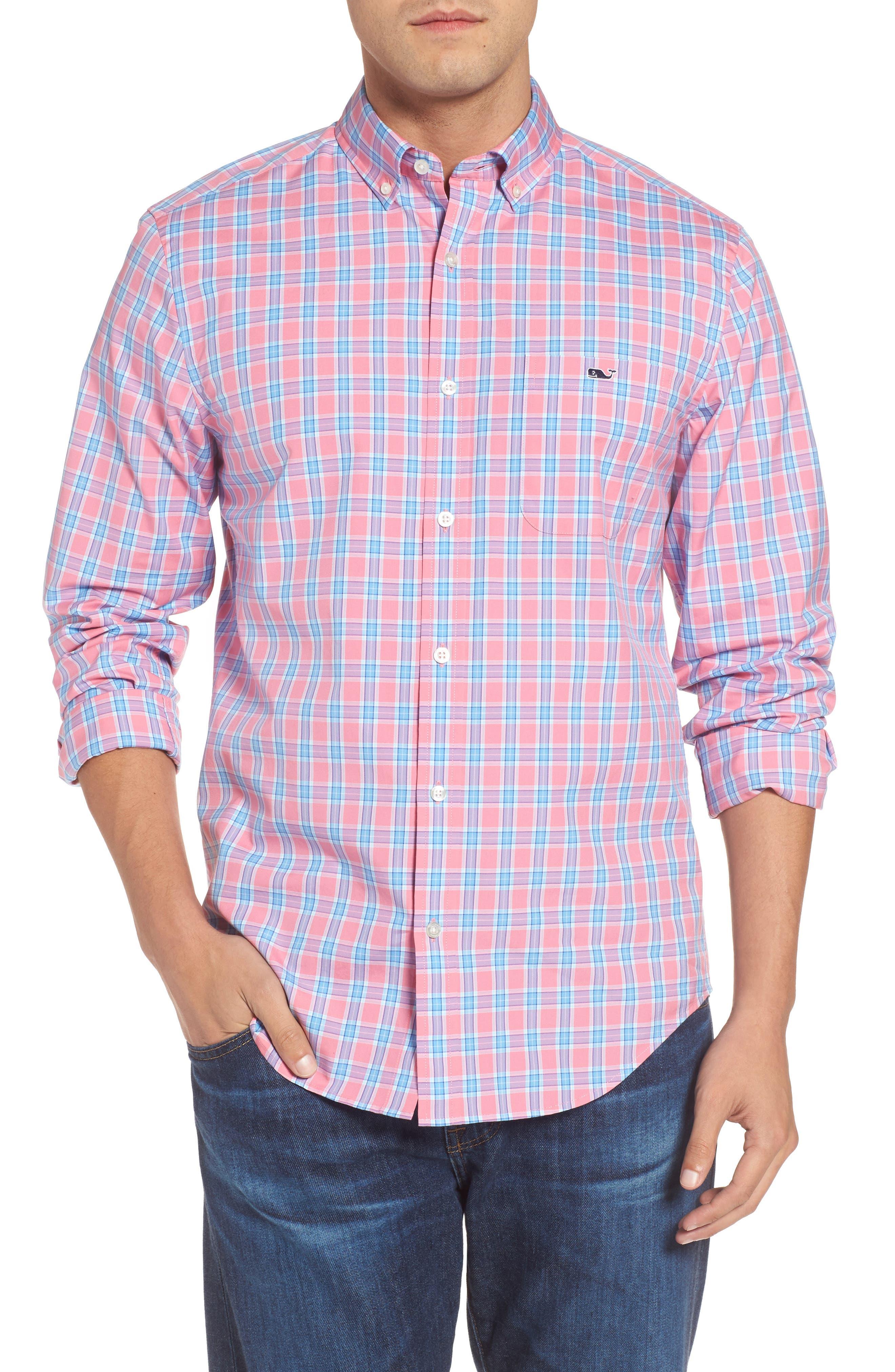 Tucker Bayard Classic Fit Plaid Sport Shirt,                             Main thumbnail 1, color,                             650