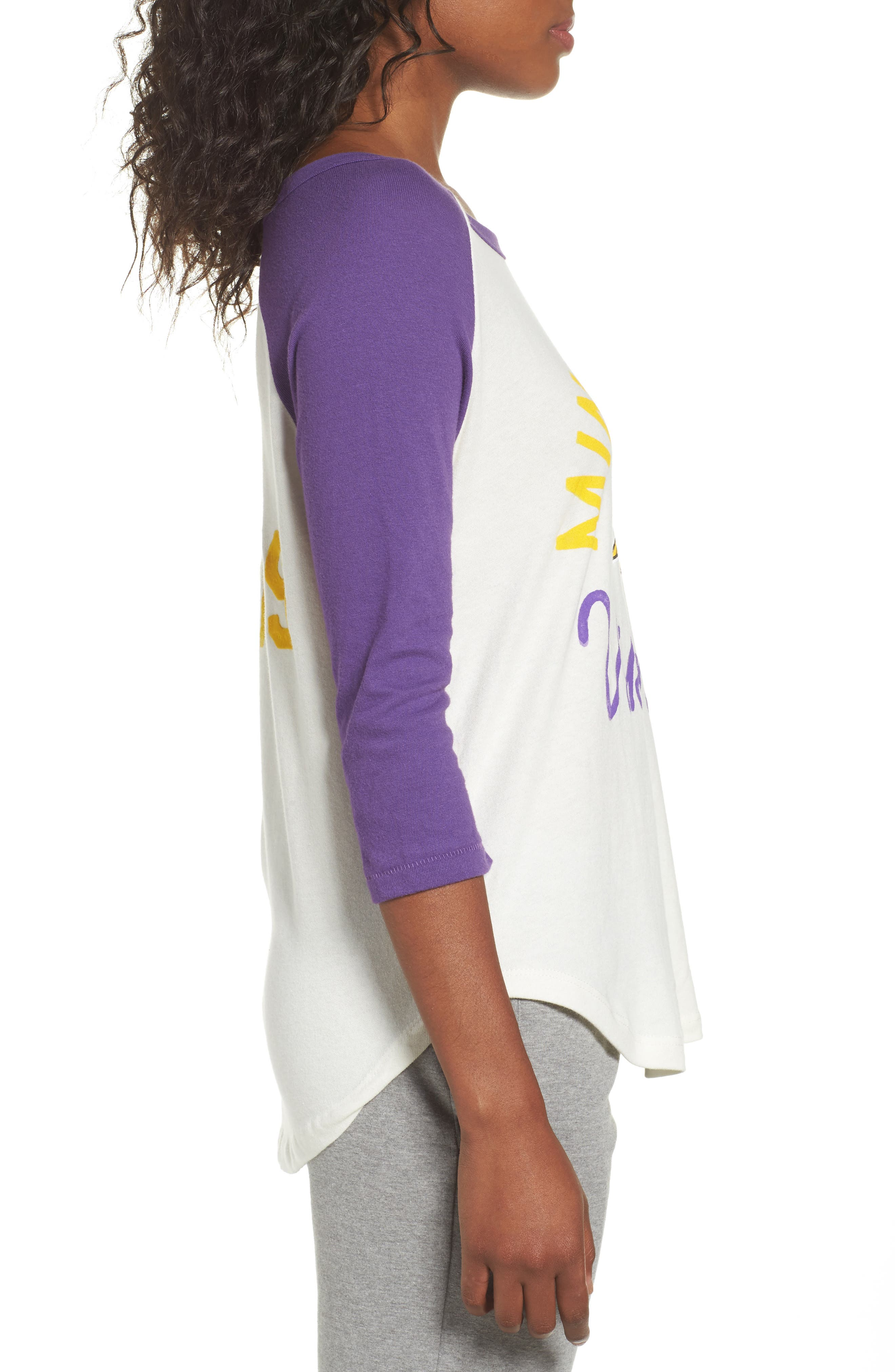 NFL Minnesota Vikings Raglan Tee,                             Alternate thumbnail 3, color,                             189