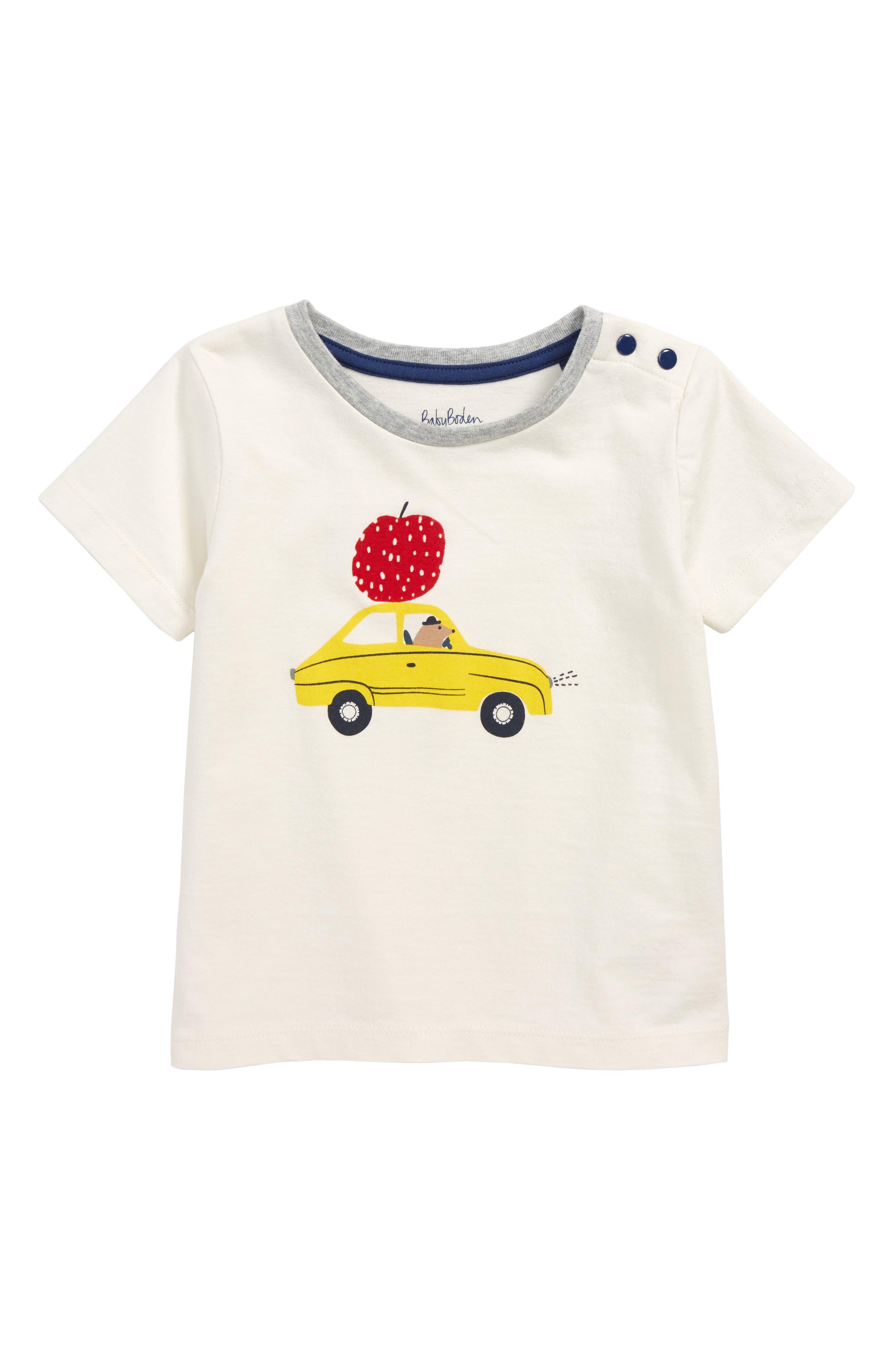 Vehicle Print T-Shirt,                         Main,                         color, ECRU