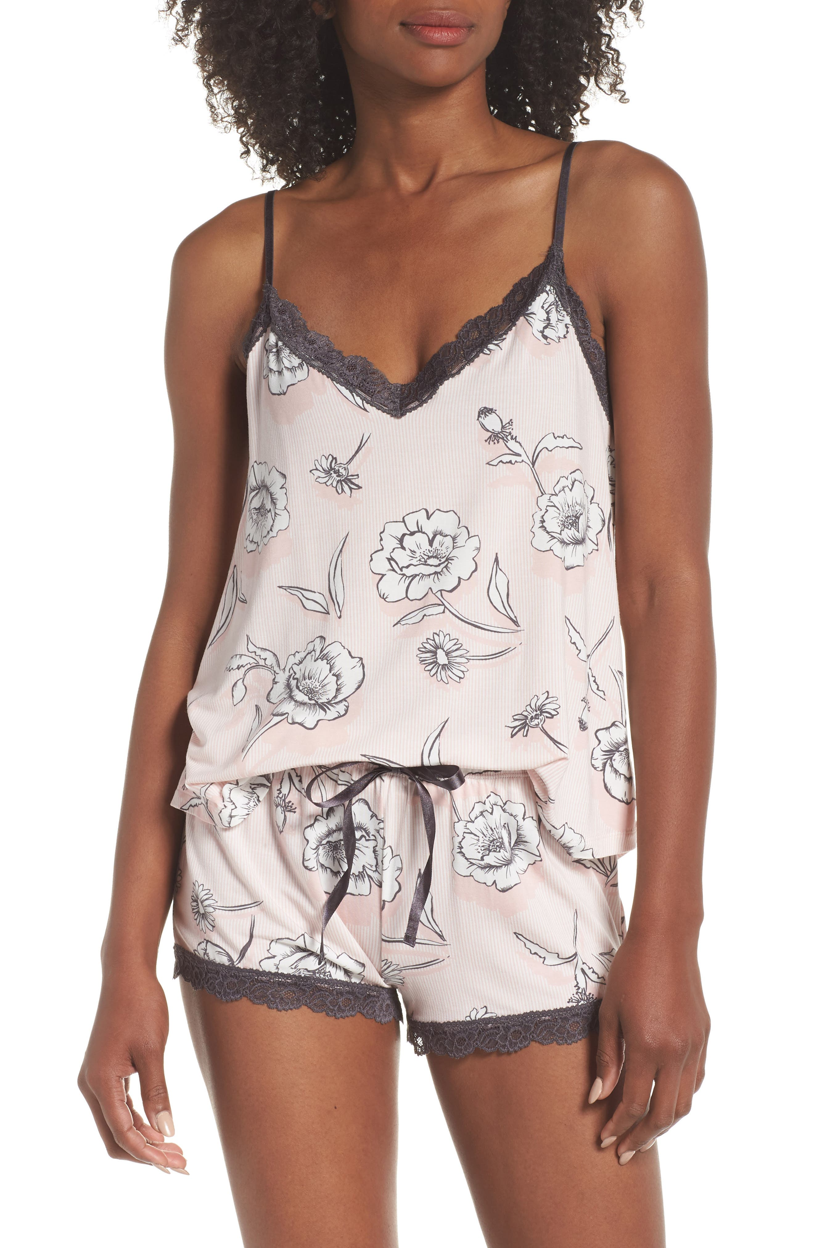 Shadow Floral Camisole,                         Main,                         color, BLUSH