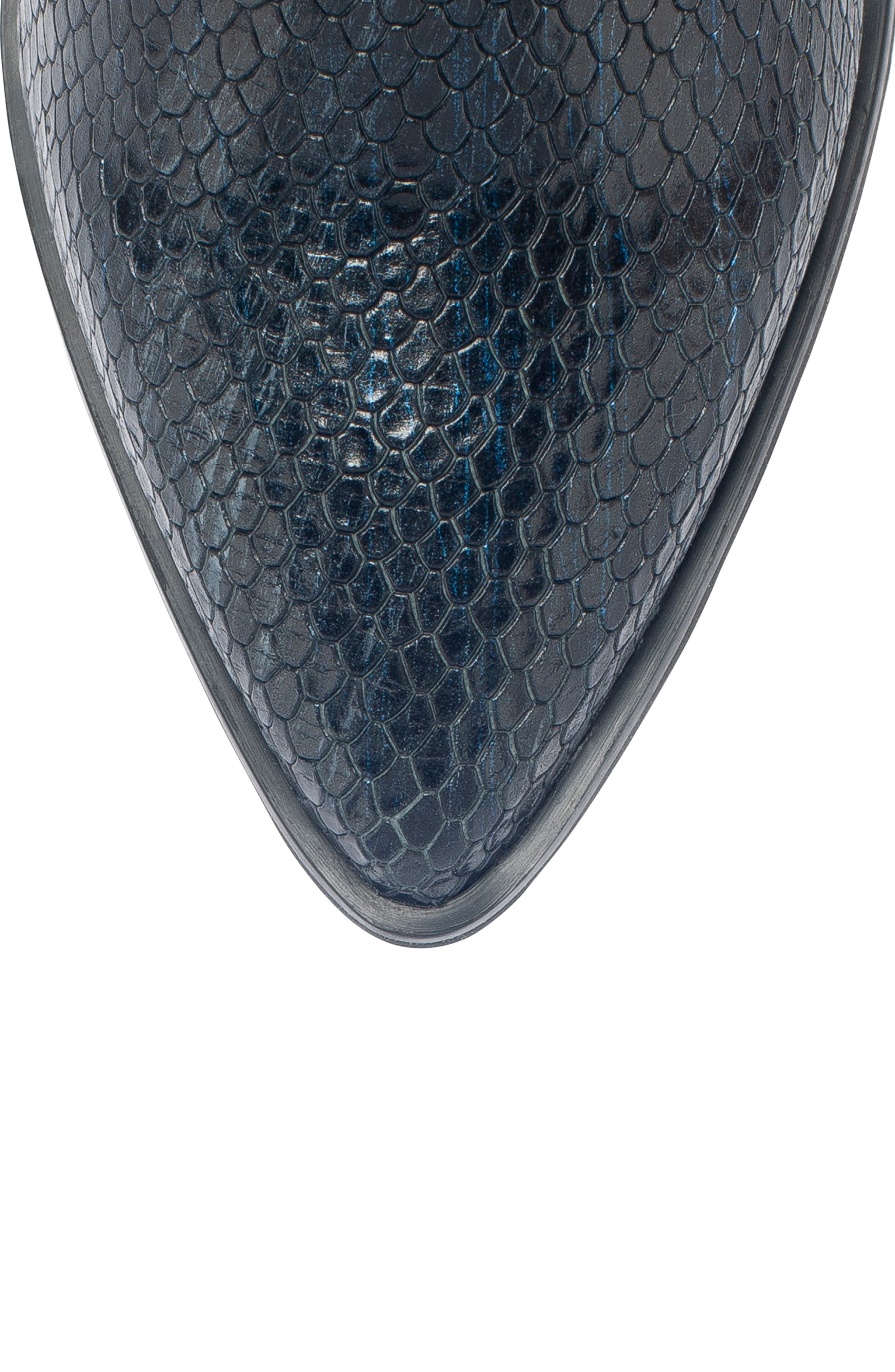 Tania Waterproof Bootie,                             Alternate thumbnail 5, color,                             BLACK SNAKE LEATHER