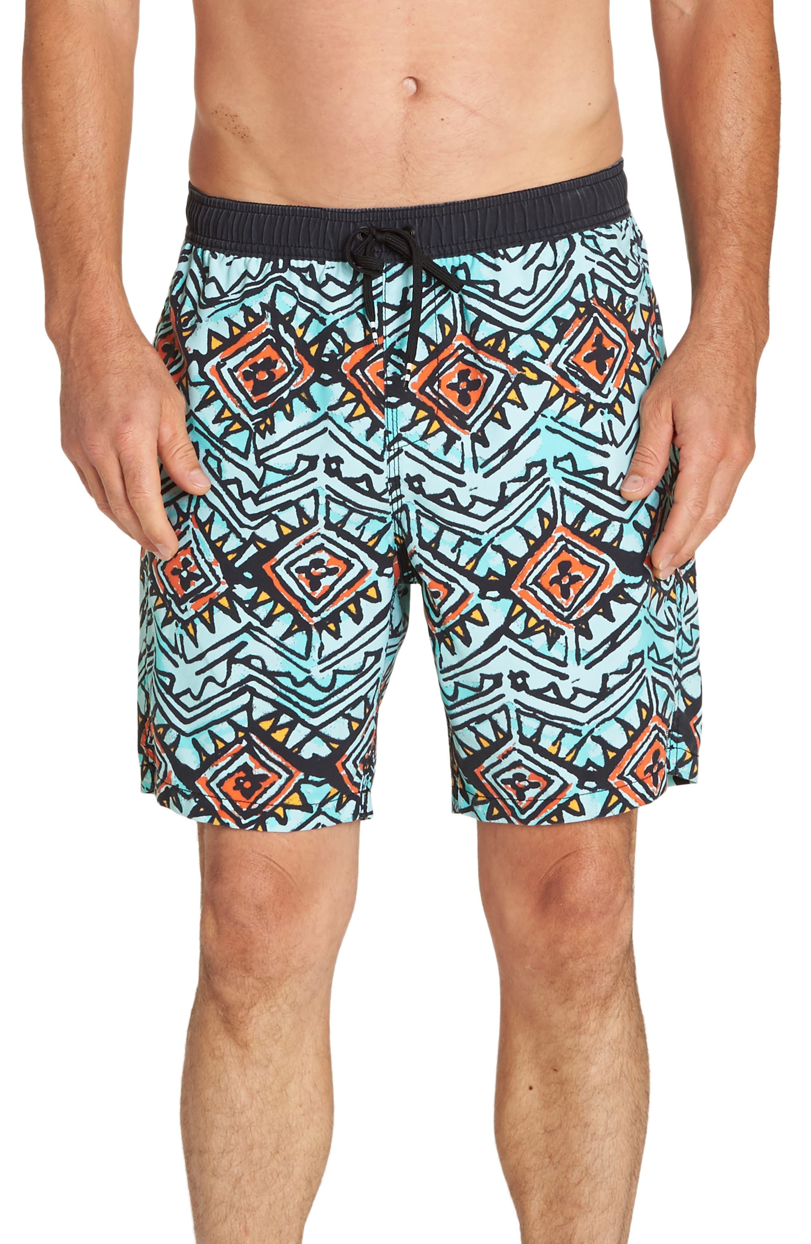 Sundays Layback Board Shorts,                             Main thumbnail 1, color,                             LAVA