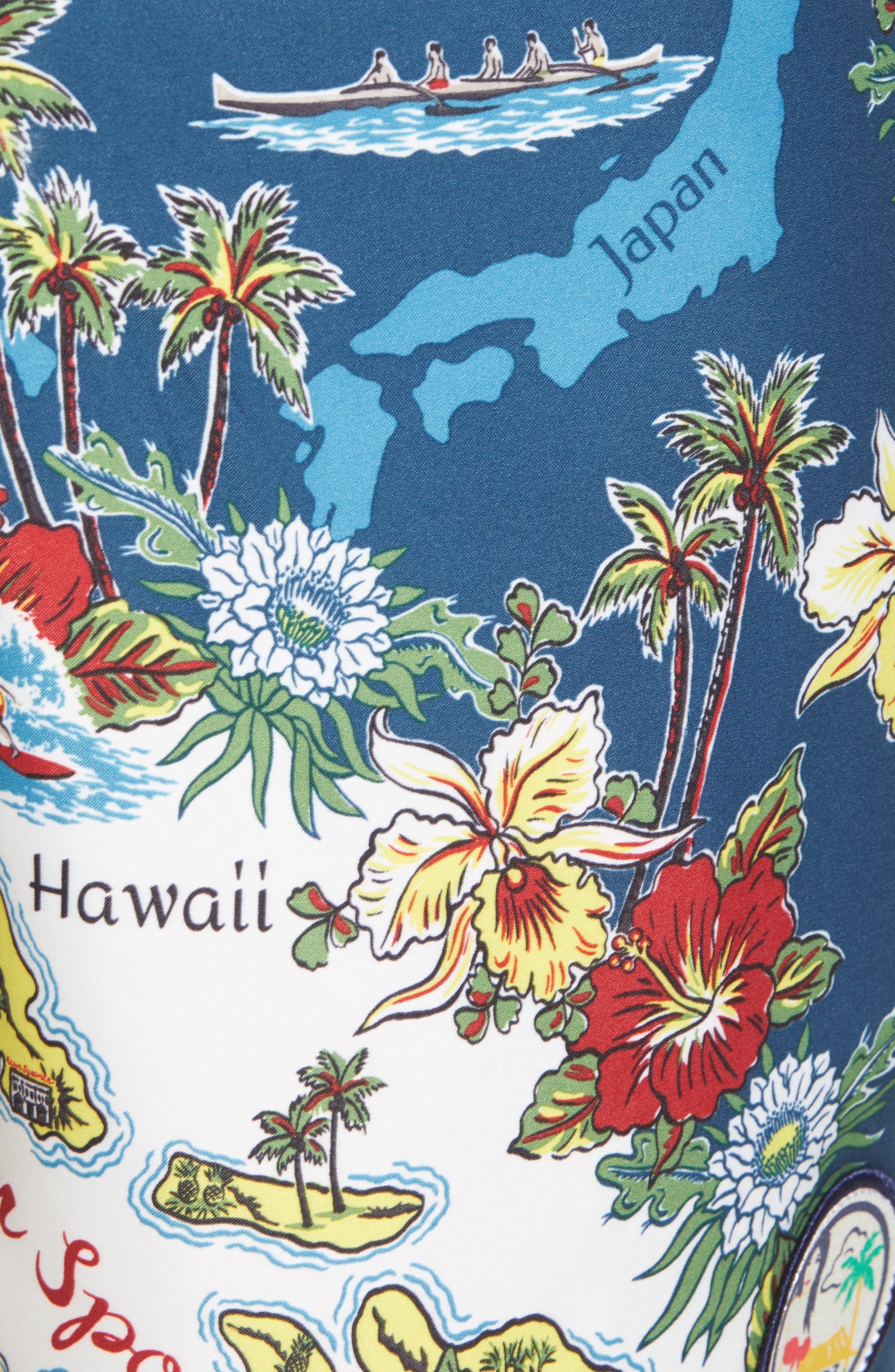 Status Oceanic Regular Fit Board Shorts,                             Alternate thumbnail 5, color,                             BLUE