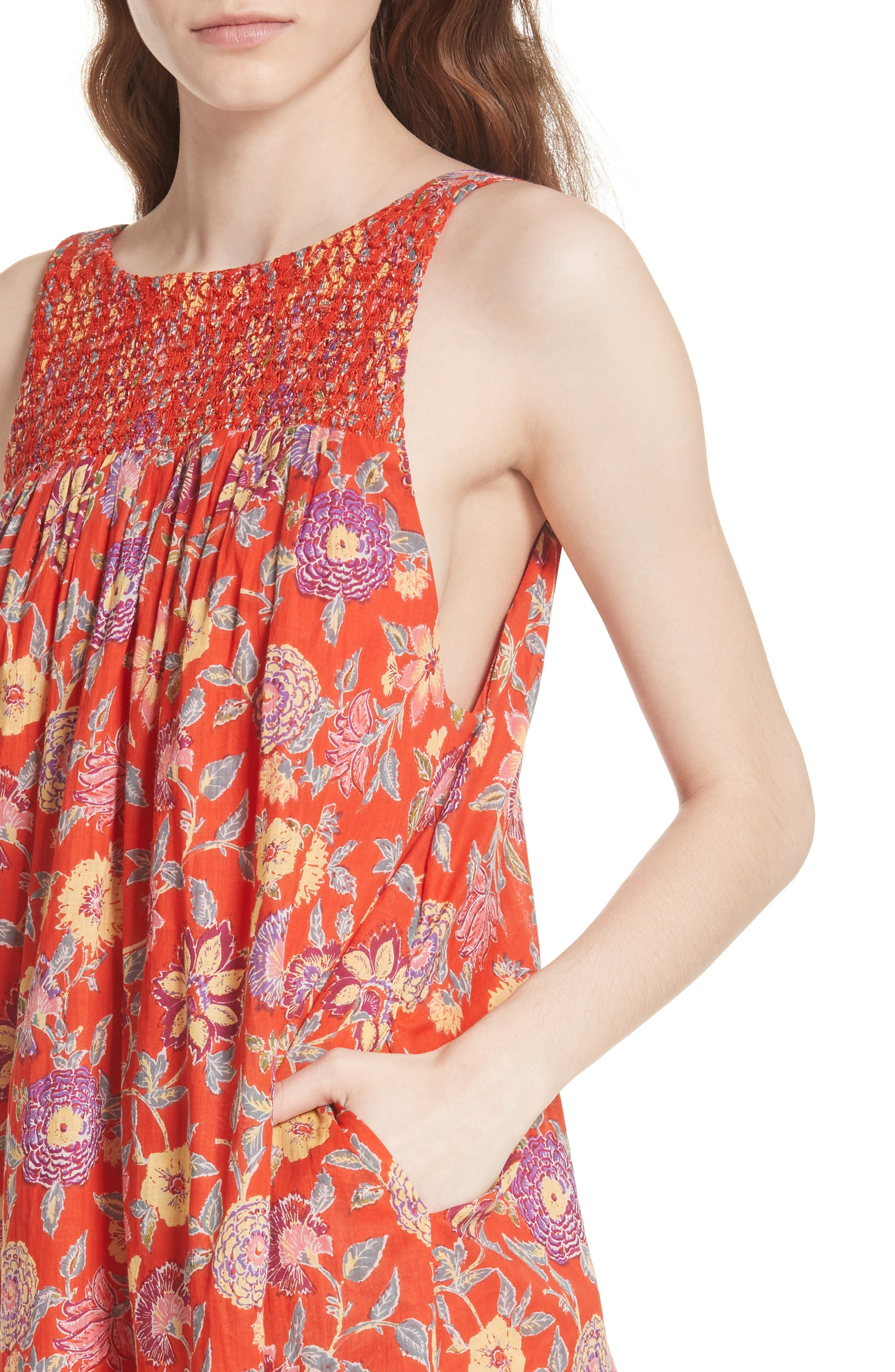 Oh Baby Floral Minidress,                             Alternate thumbnail 8, color,
