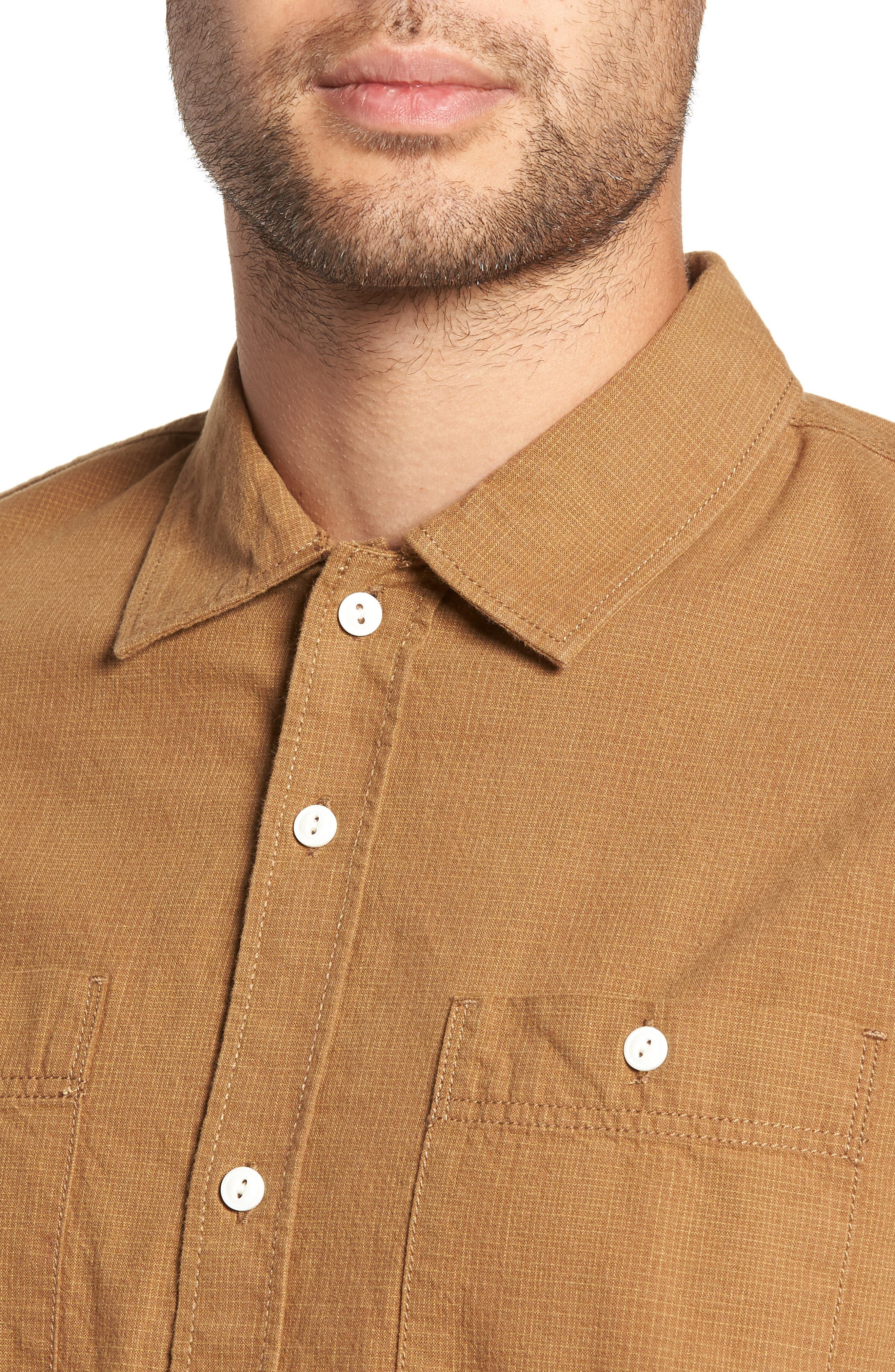 Durhamd Ombré Plaid Sport Shirt,                             Alternate thumbnail 2, color,                             DIRT