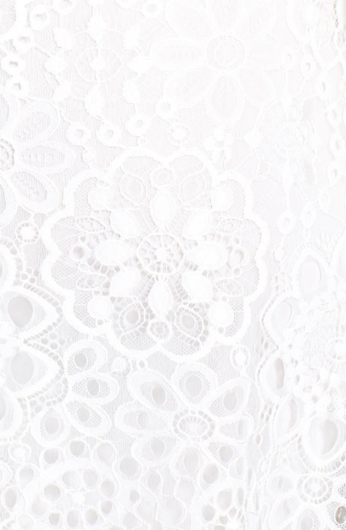 'Lovebird' Lace Sheath Minidress,                             Alternate thumbnail 4, color,                             101
