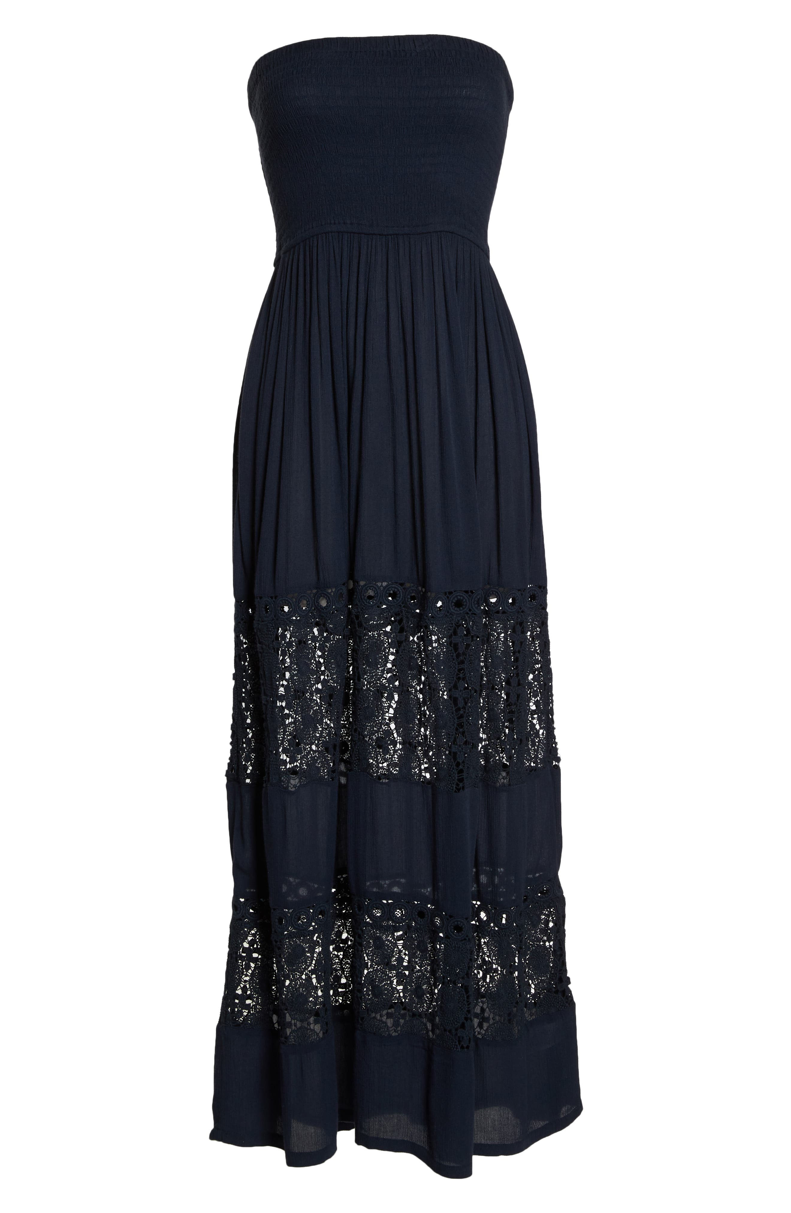 Farrah Smocked Cover-Up Maxi Dress,                             Alternate thumbnail 7, color,                             NAVY SAPPHIRE