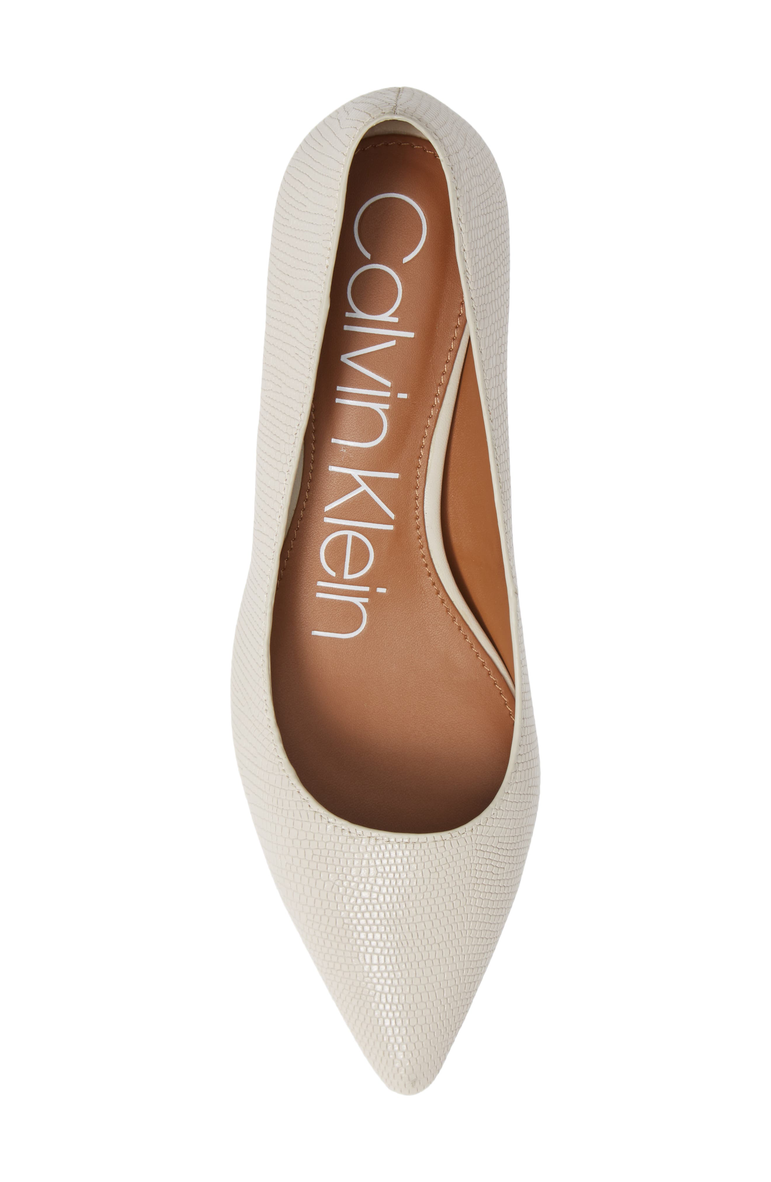 Gabrianna Pump,                             Alternate thumbnail 5, color,                             SOFT WHITE LEATHER