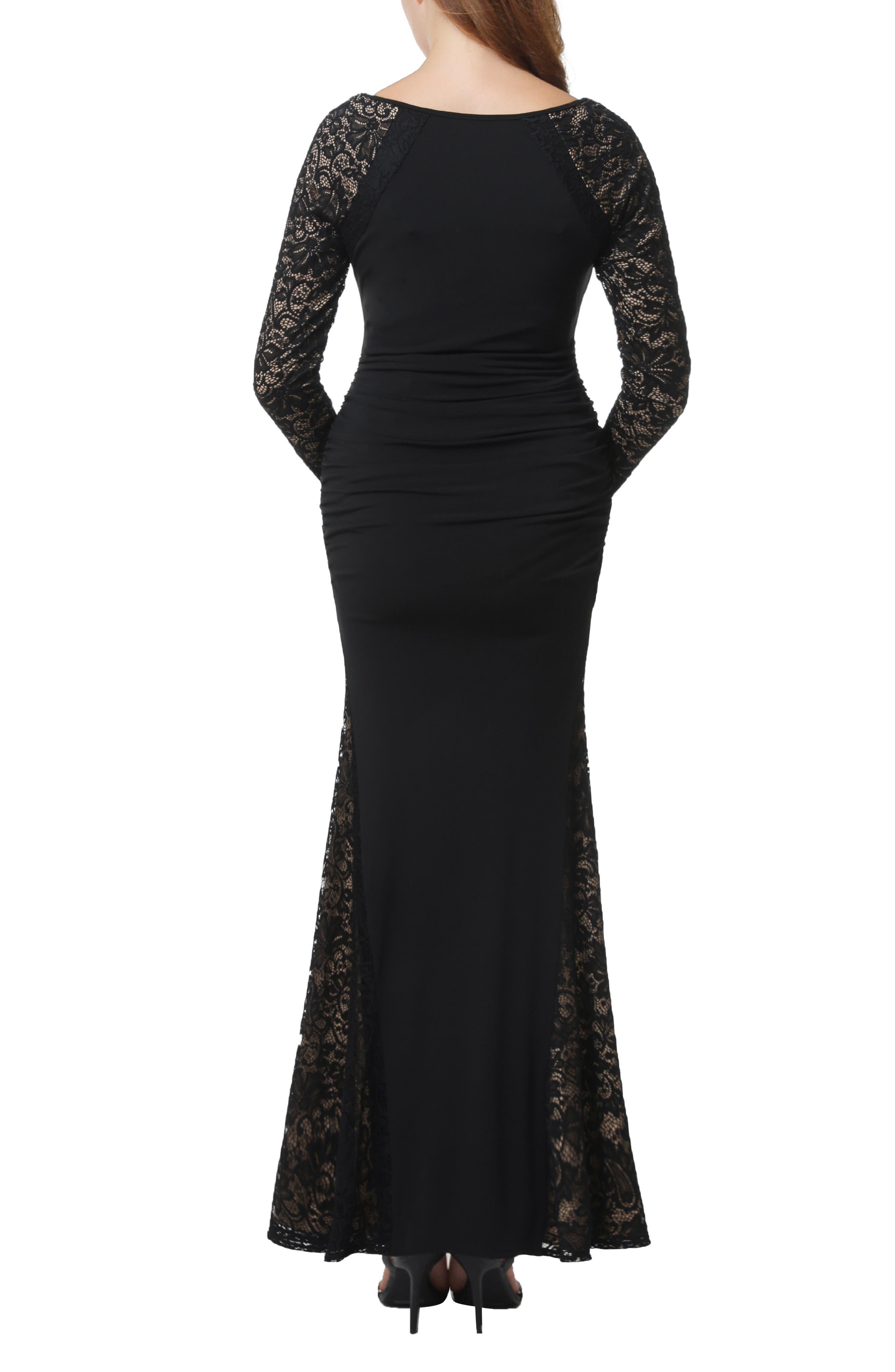Bella Maternity Maxi Dress,                             Alternate thumbnail 2, color,                             BLACK