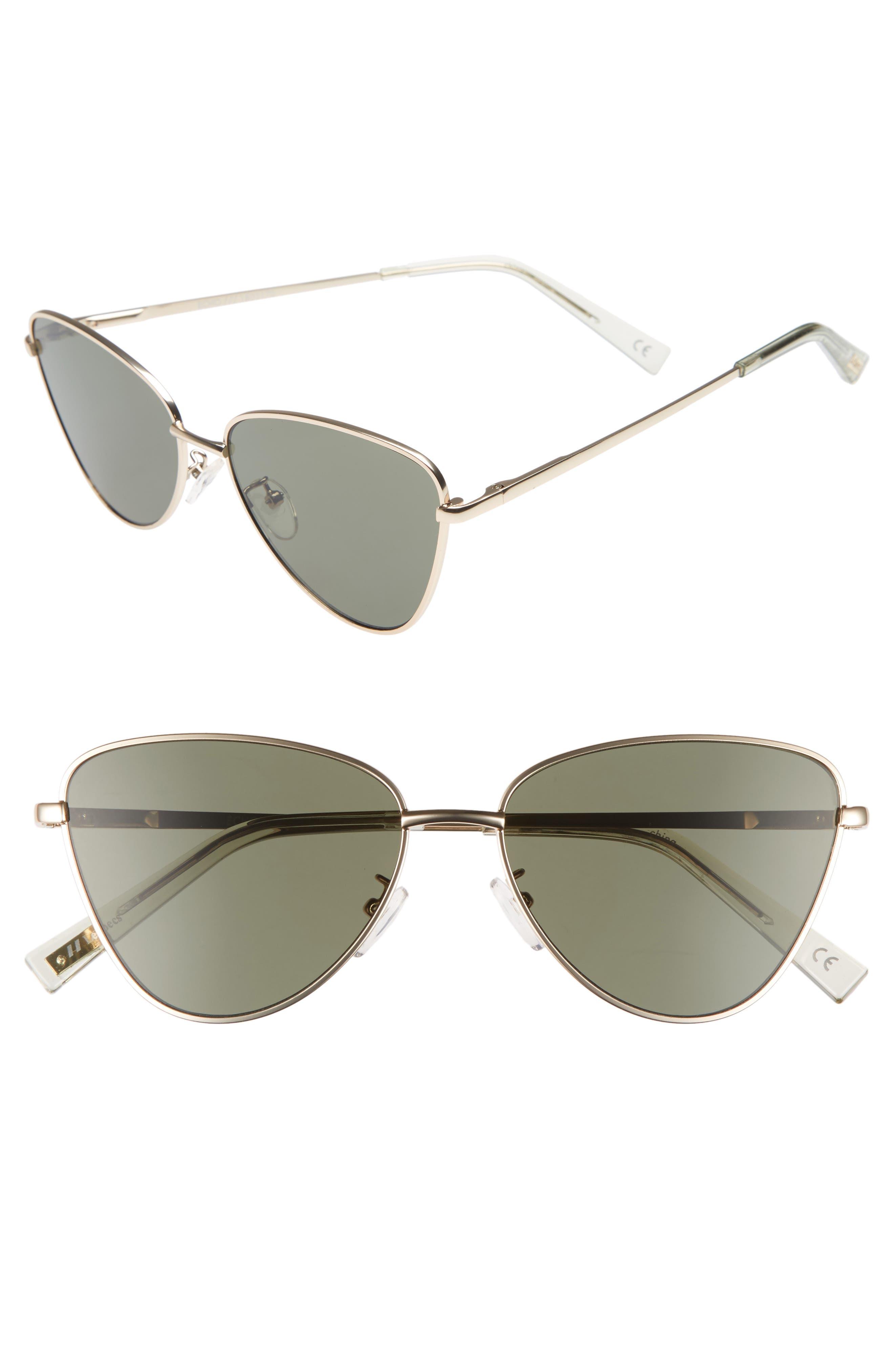 Le Specs Echo 50Mm Butterfly Sunglasses - Matte Gold