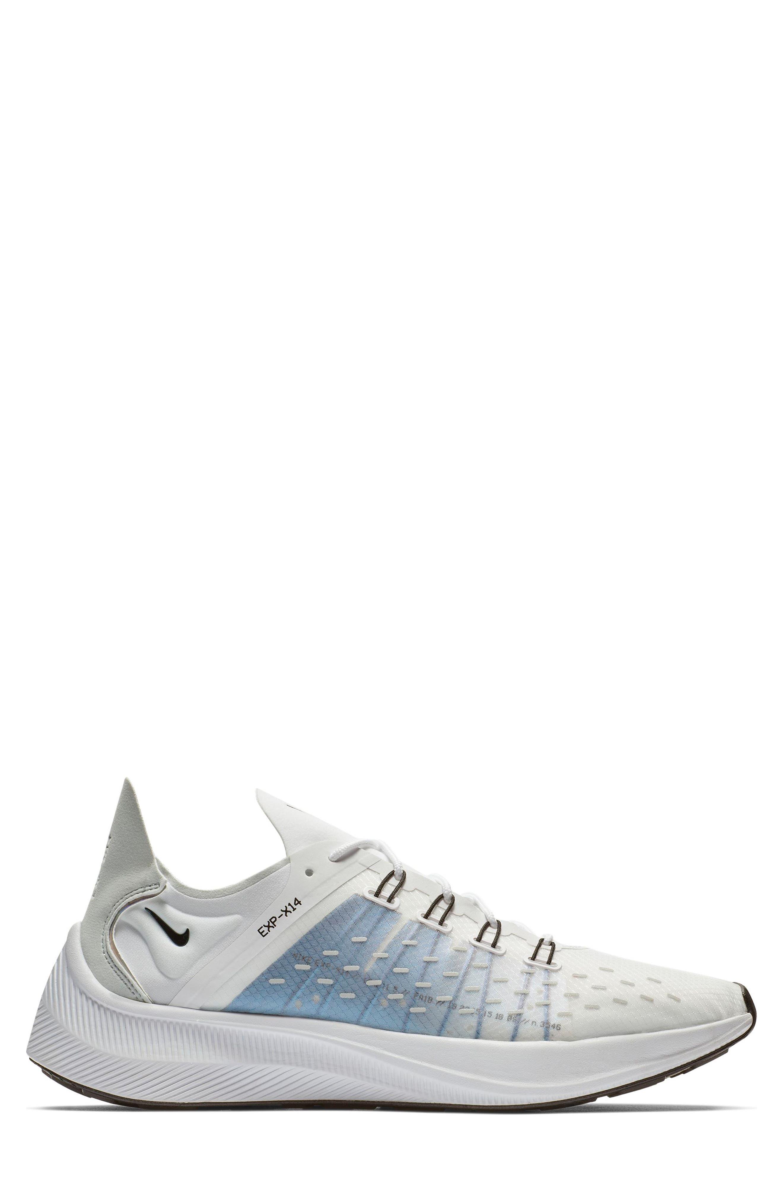 NIKE,                             EXP-X14 Y2K Running Shoe,                             Alternate thumbnail 6, color,                             WHITE/ PURE PLATINUM/ BLACK