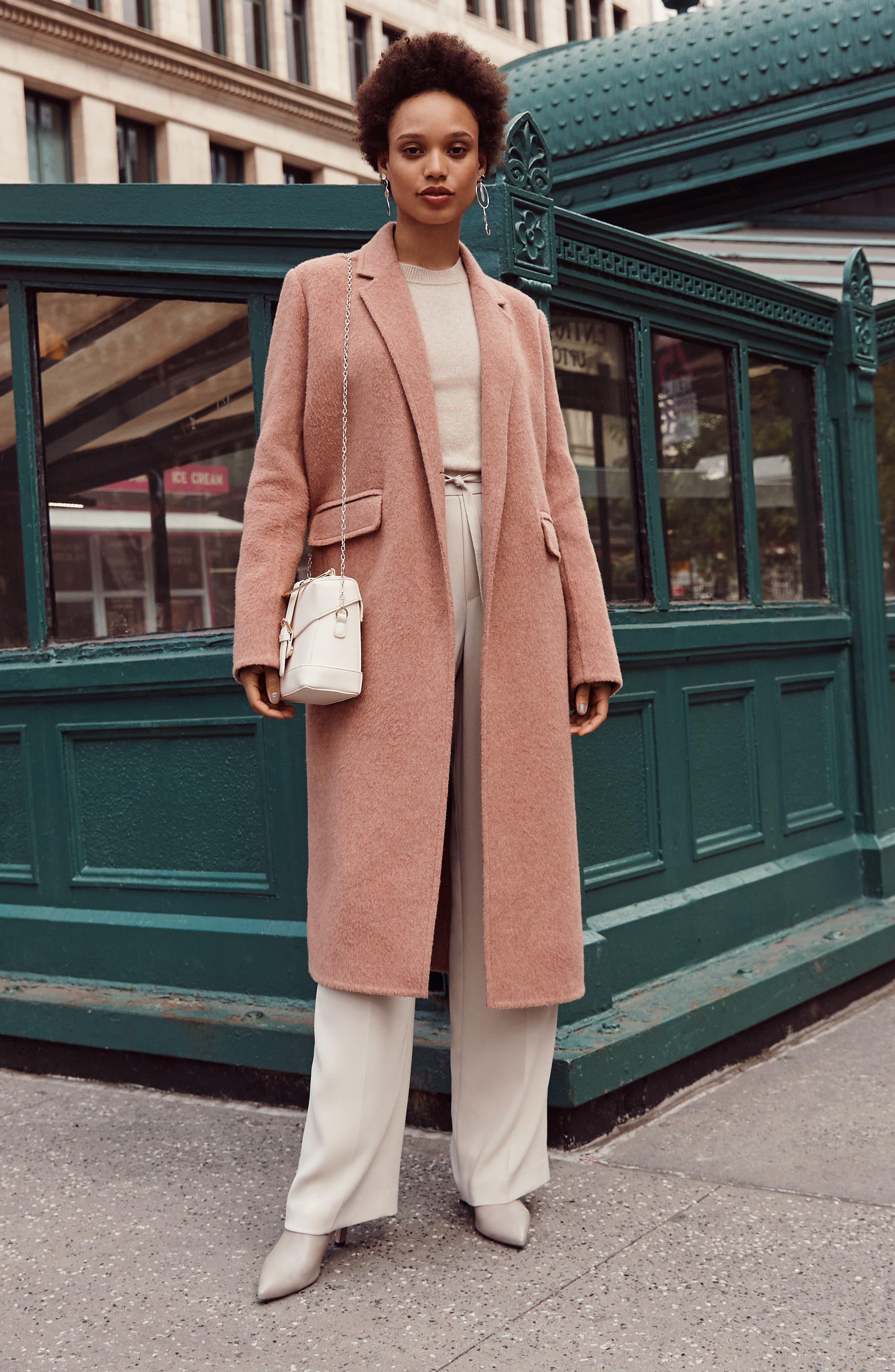 VINCE,                             Long Wool Alpaca Blend Coat,                             Alternate thumbnail 10, color,                             341
