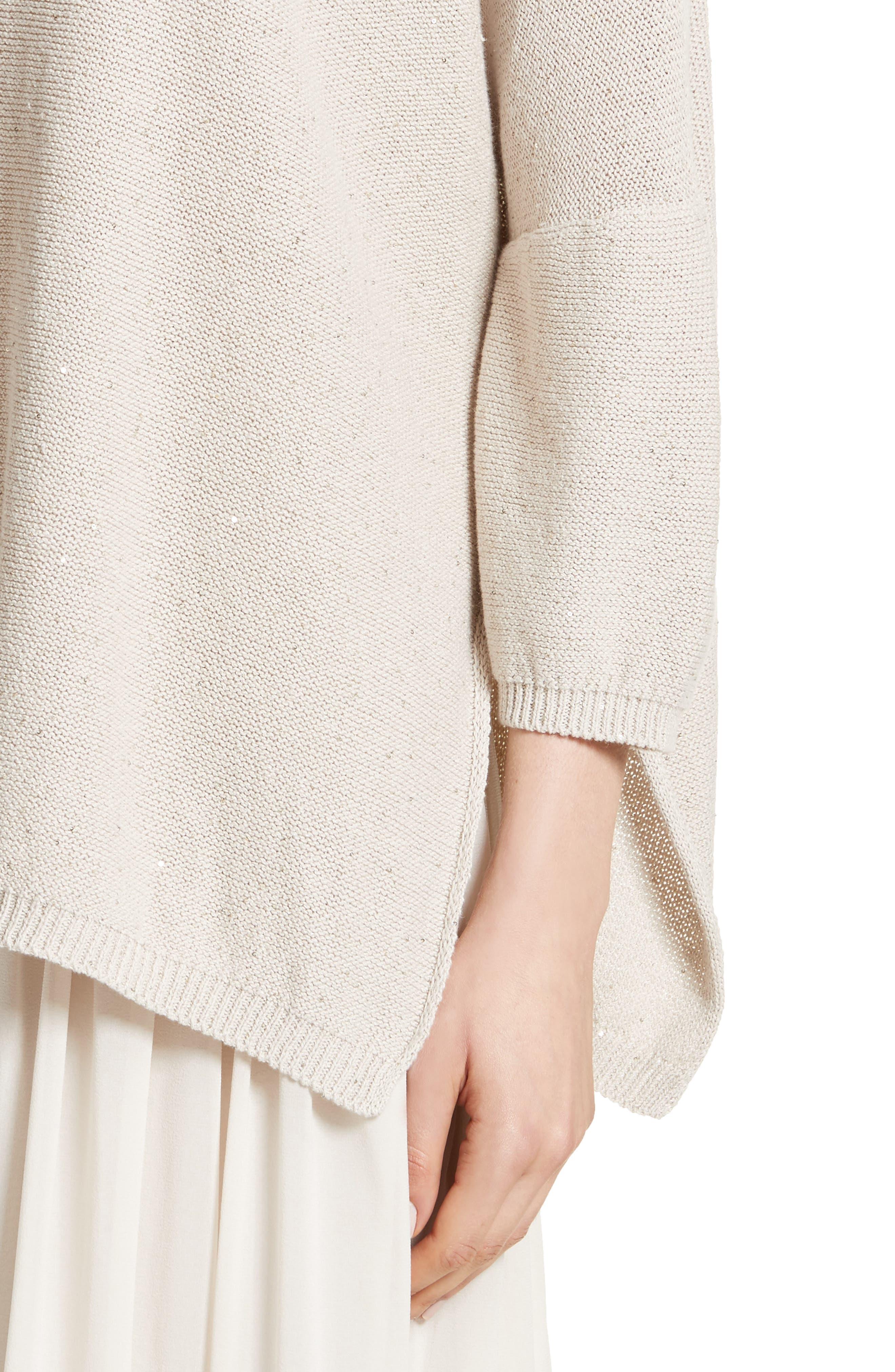 Sequin Knit Dolman Sweater,                             Alternate thumbnail 4, color,