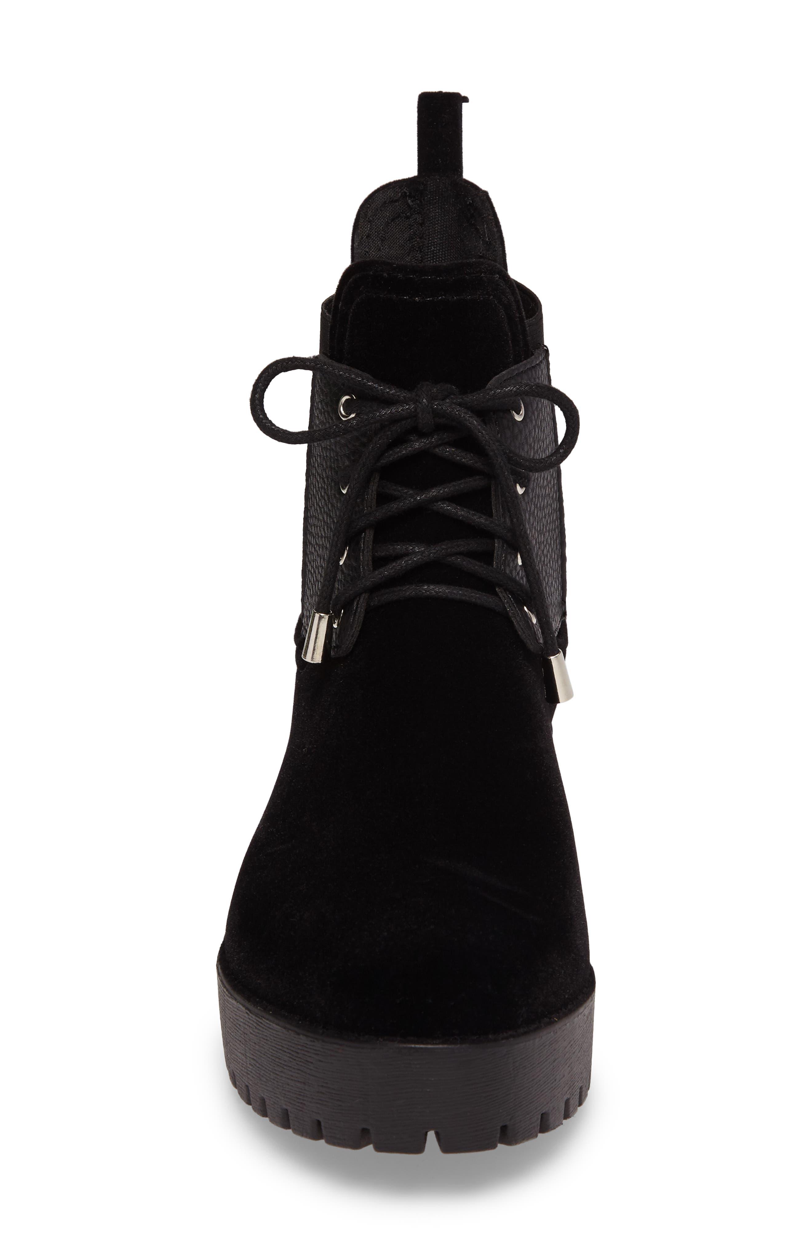 Leeds Lace-Up Waterproof Boot,                             Alternate thumbnail 4, color,                             BLACK