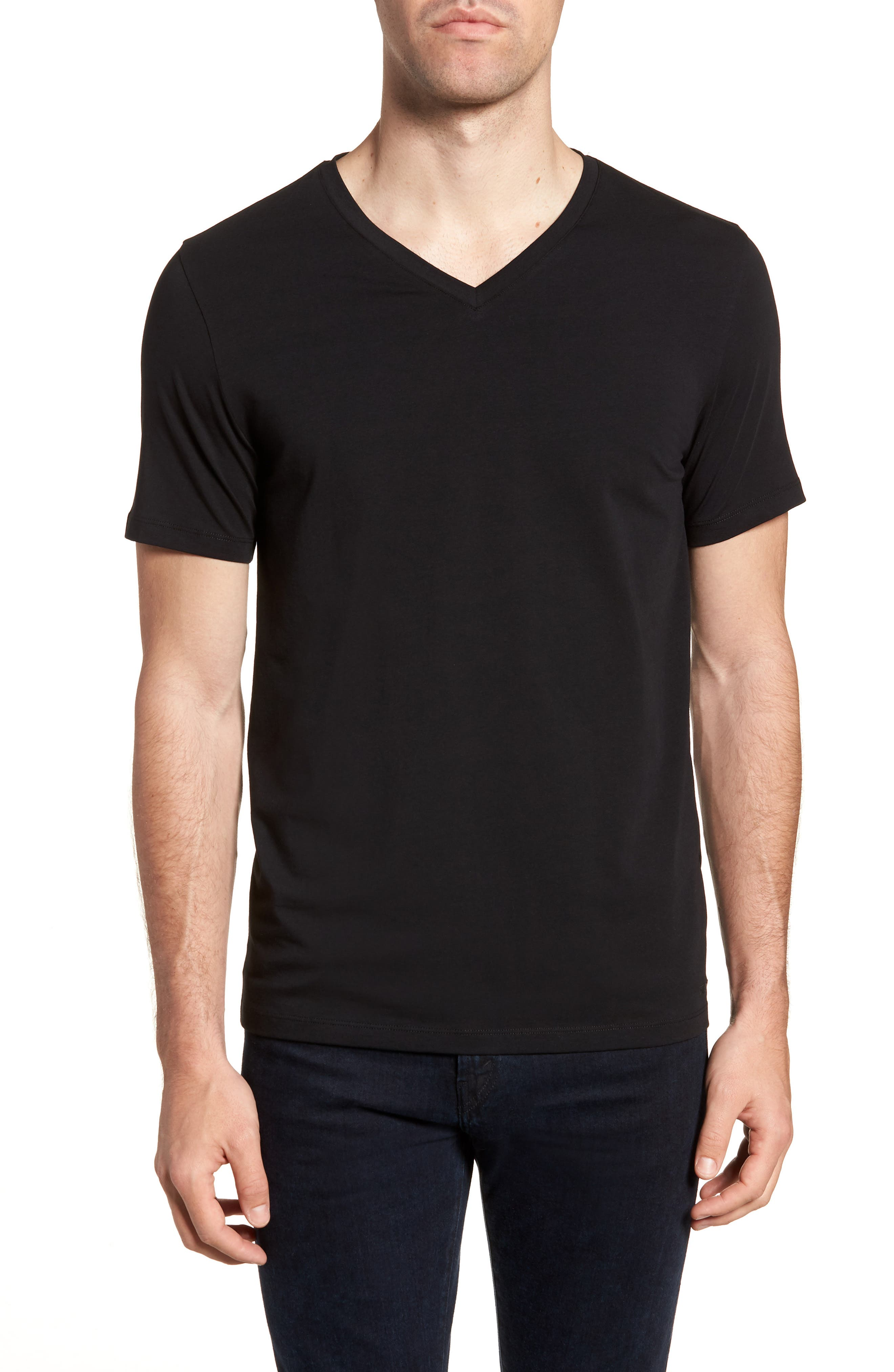 Dandre Slim Fit V-Neck T-Shirt,                             Main thumbnail 1, color,                             001