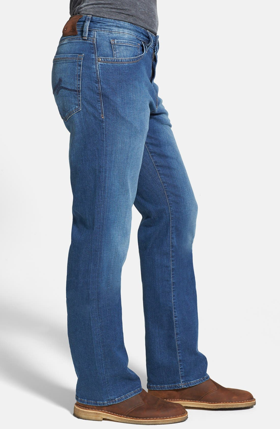 'Charisma' Classic Relaxed Fit Jeans,                             Alternate thumbnail 8, color,                             MID CASHMERE