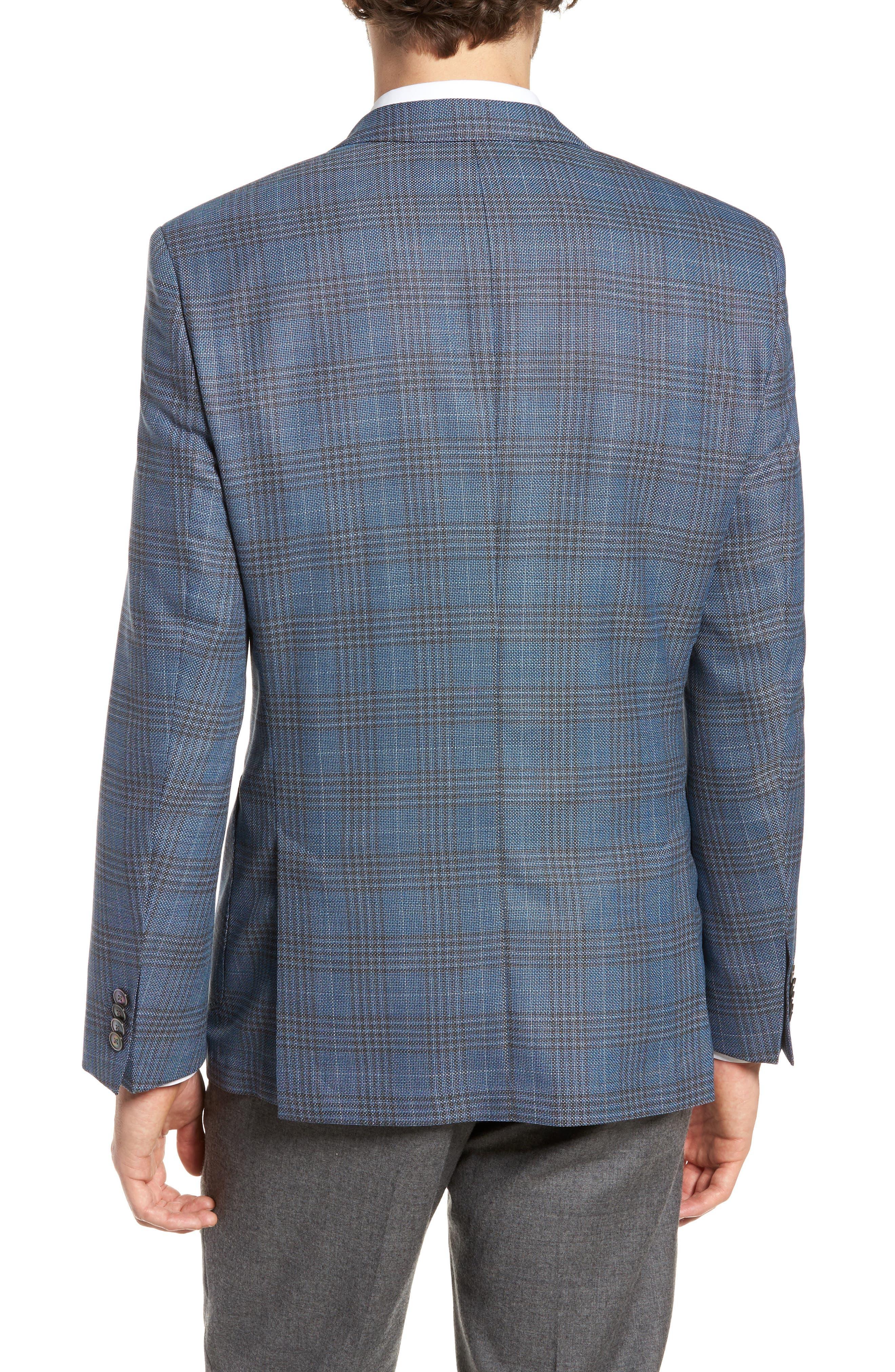 Janson Classic Fit Plaid Wool Sport Coat,                             Alternate thumbnail 2, color,                             473