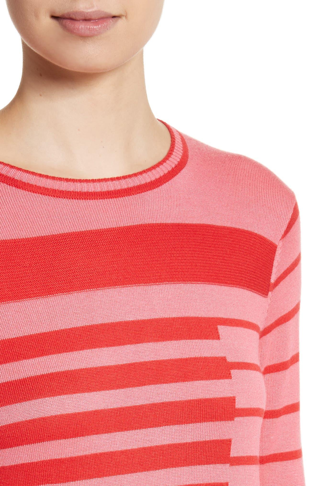 Intarsia Stripe Sweater,                             Alternate thumbnail 4, color,                             660