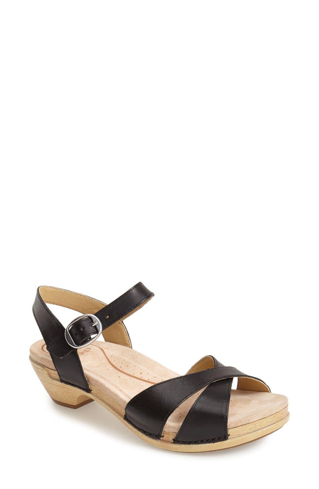 'Larissa' Sandal,                         Main,                         color, 001