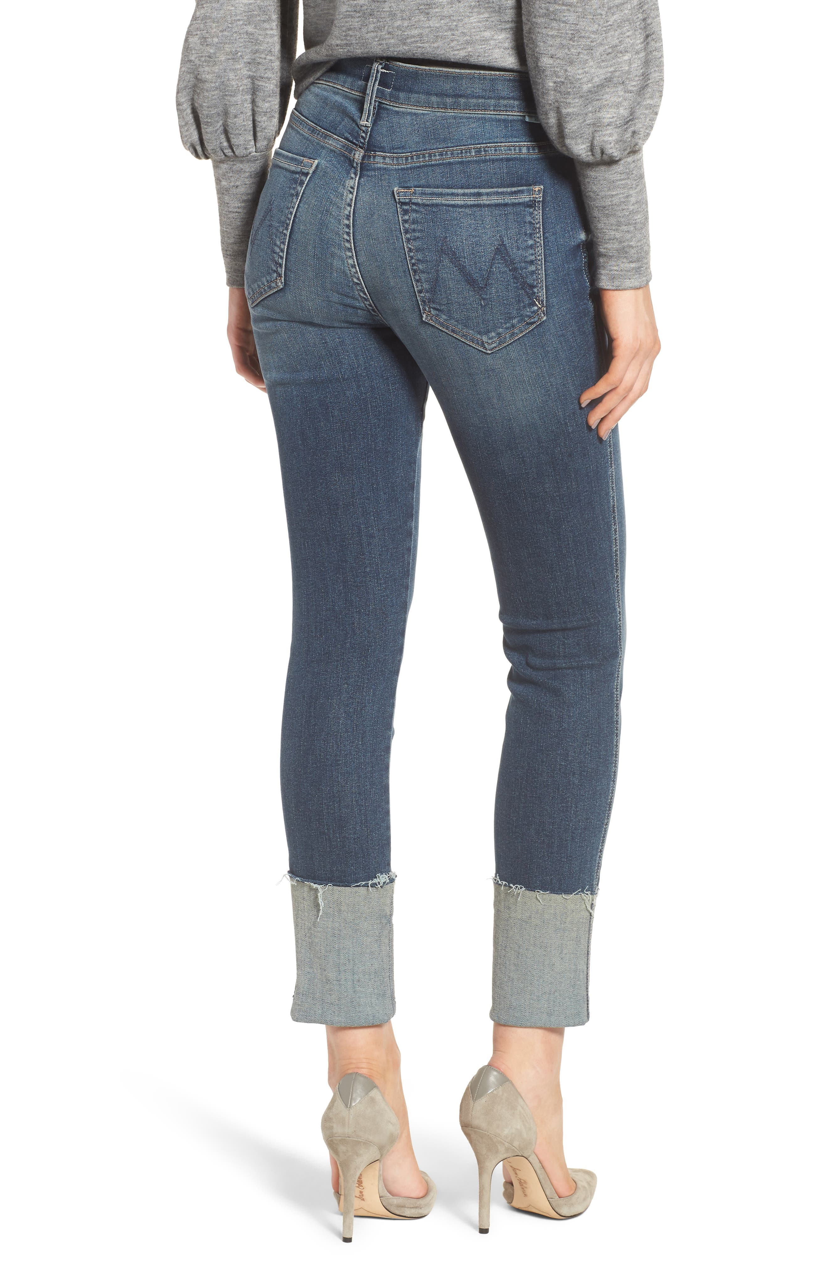 The Ponyboy Frayed Ankle Jeans,                             Alternate thumbnail 2, color,                             404