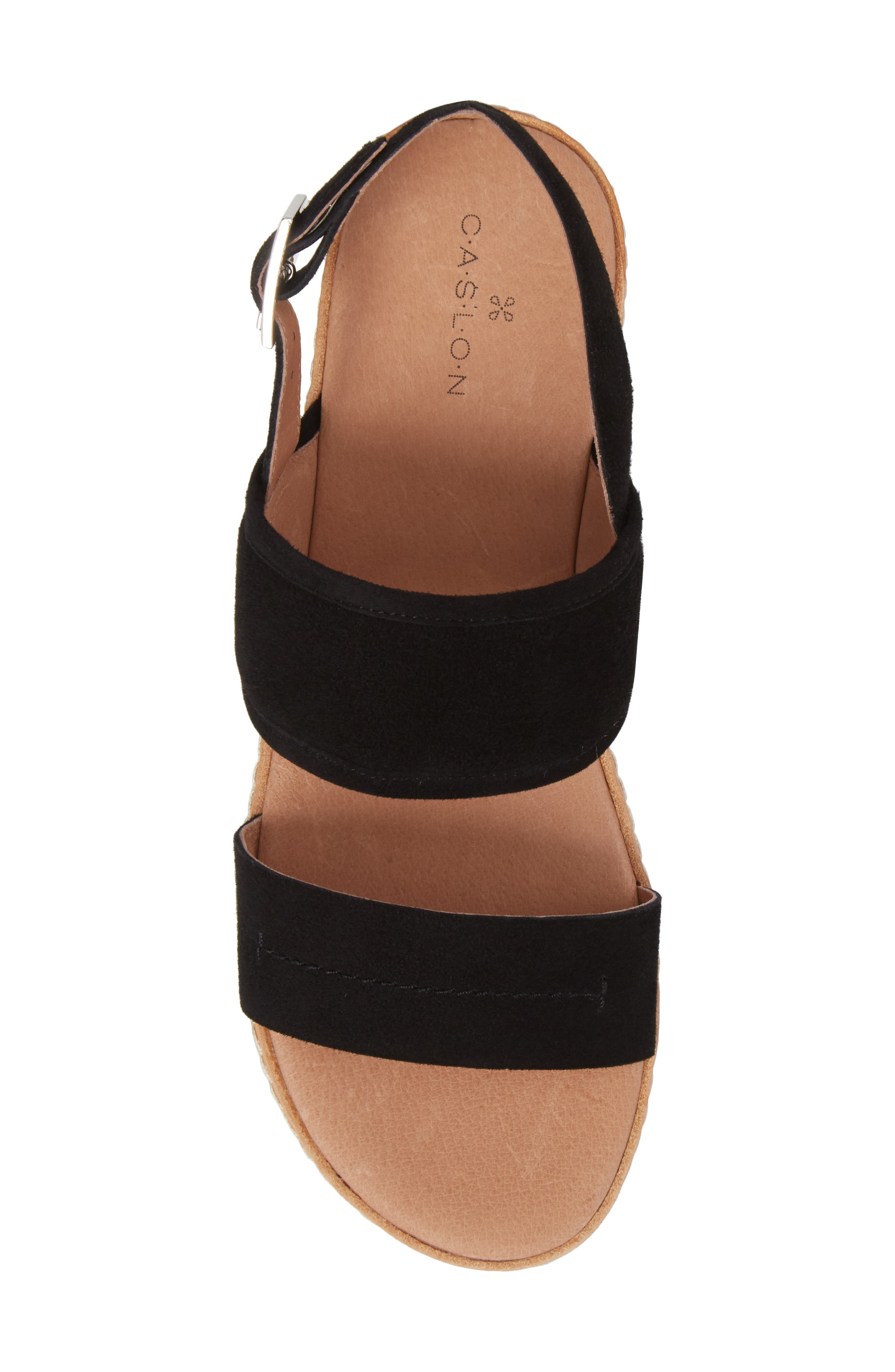 Claire Slingback Sandal,                             Alternate thumbnail 5, color,                             001