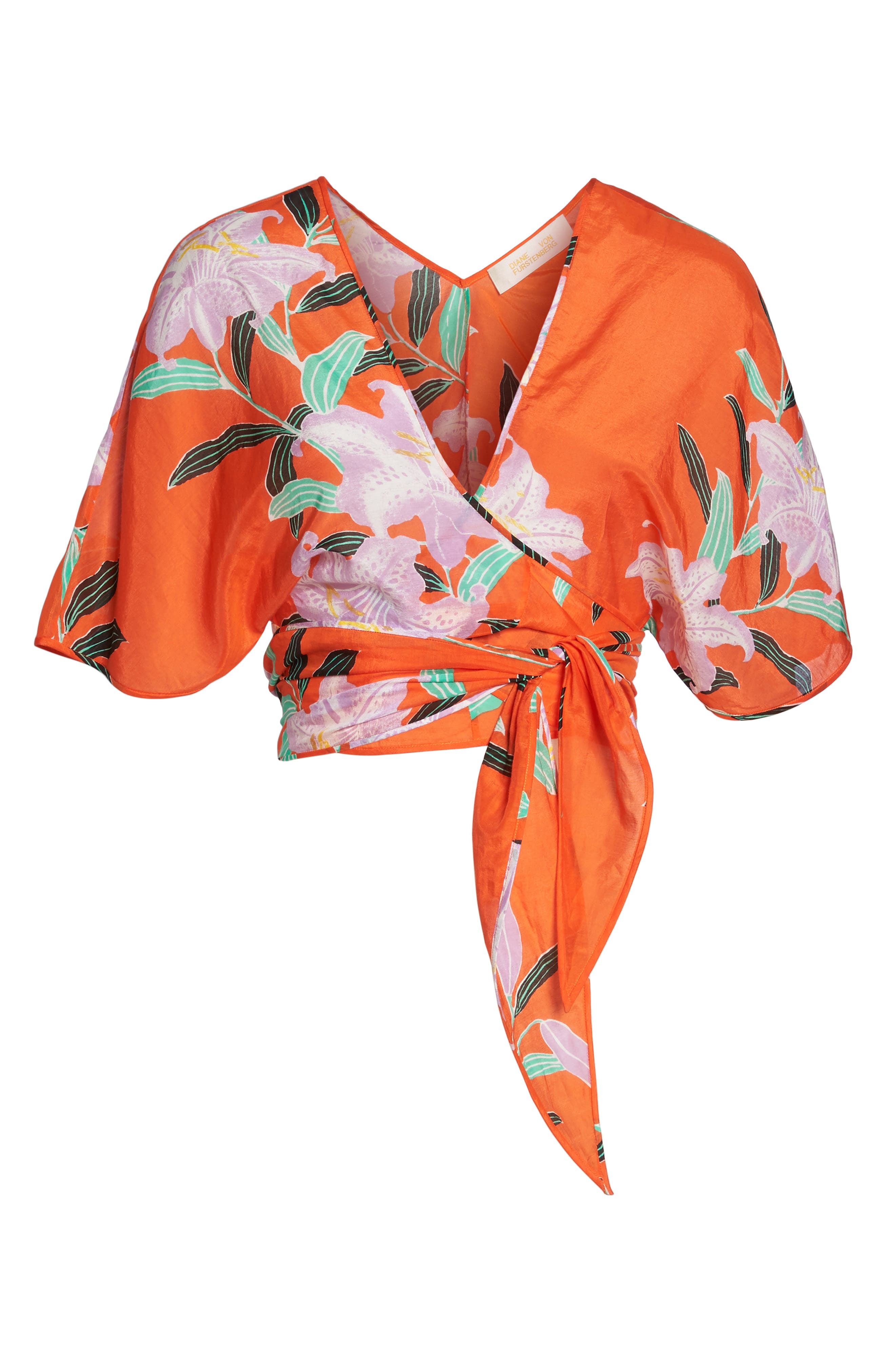 Wrap Cover-Up Top,                             Alternate thumbnail 6, color,                             802