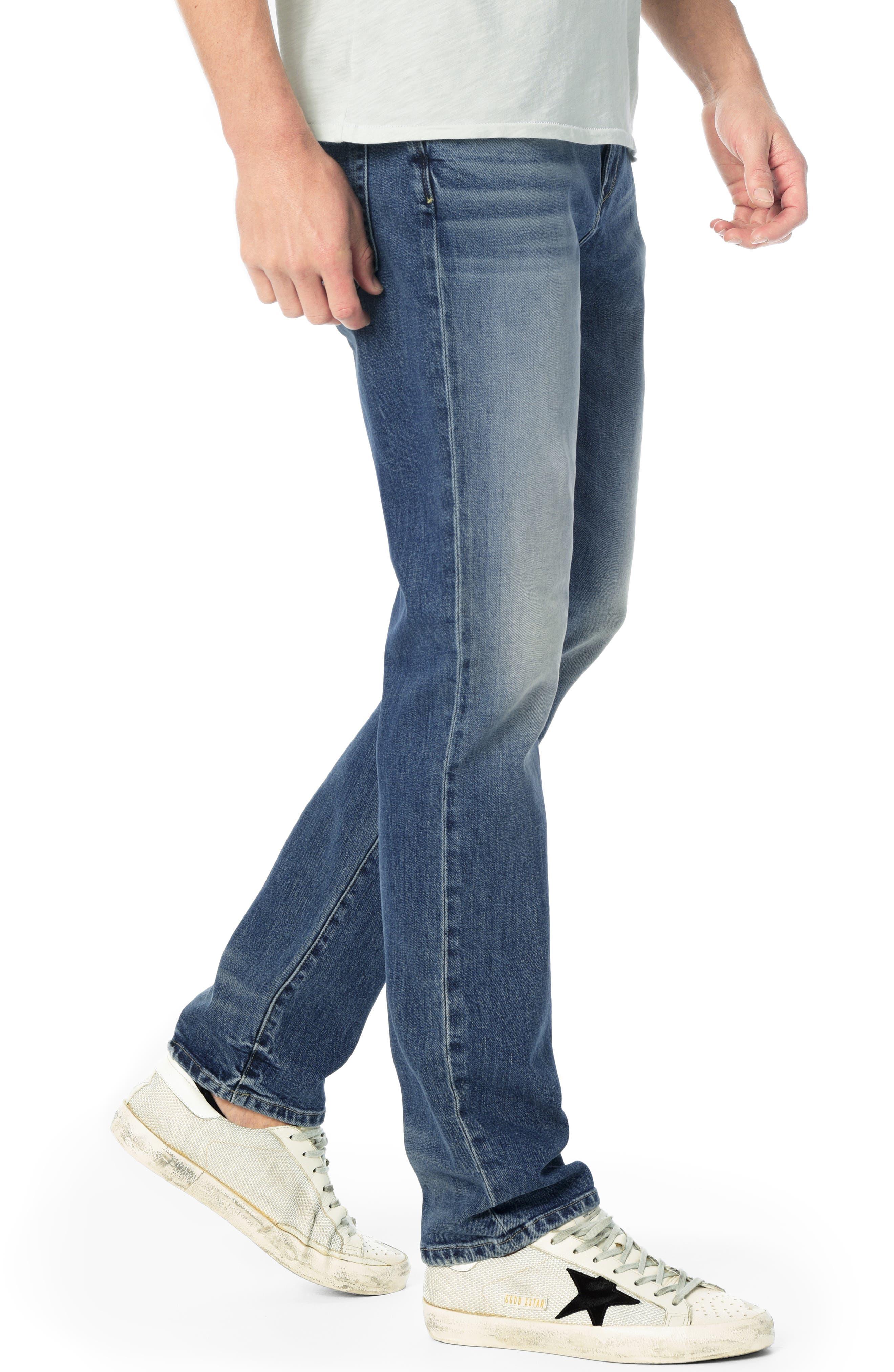 Brixton Slim Straight Leg Jeans,                             Alternate thumbnail 3, color,                             HARPO